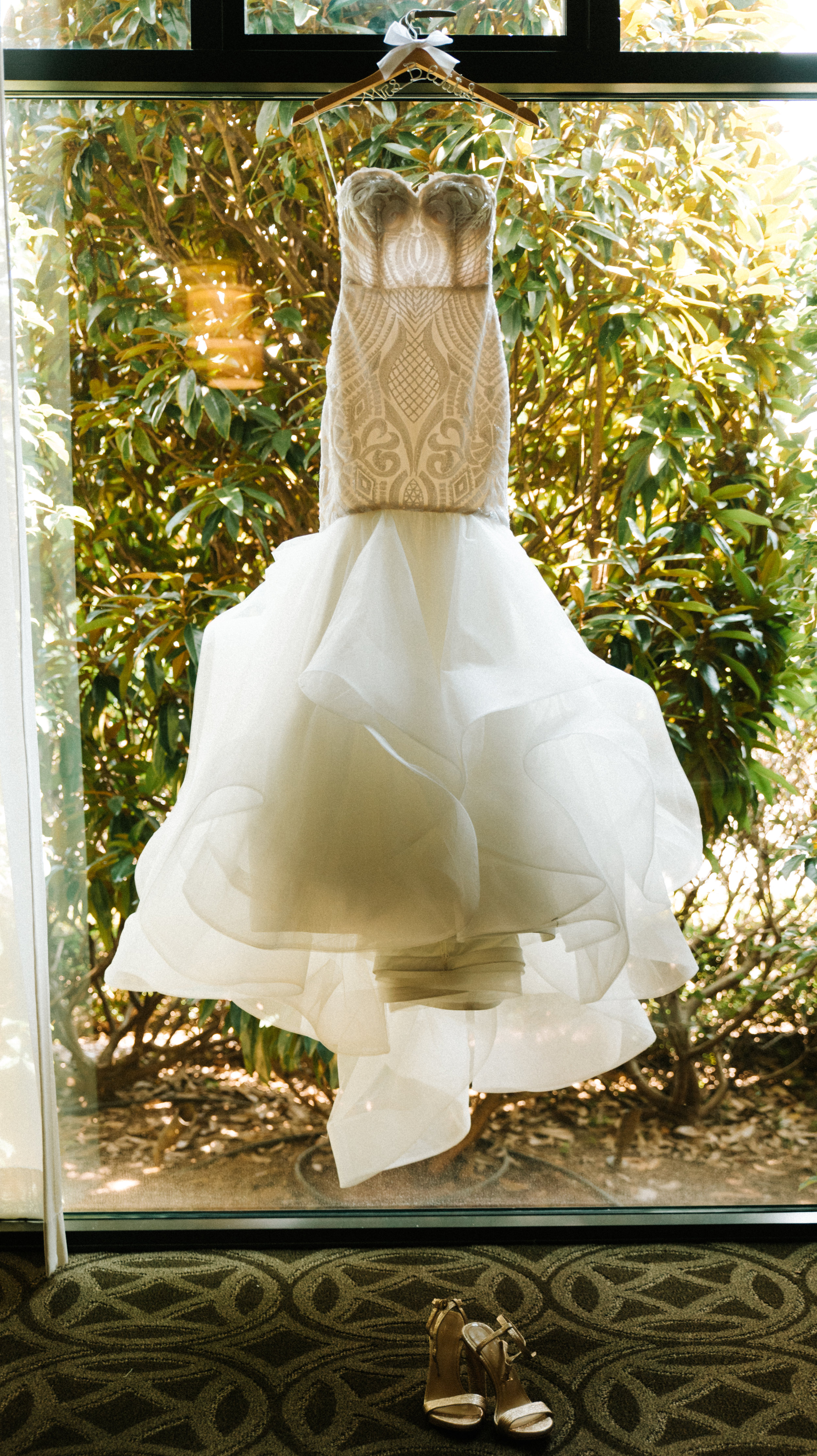 Blush by Hayley Paige Wedding Dress. Wedding Dress Detail Photos.