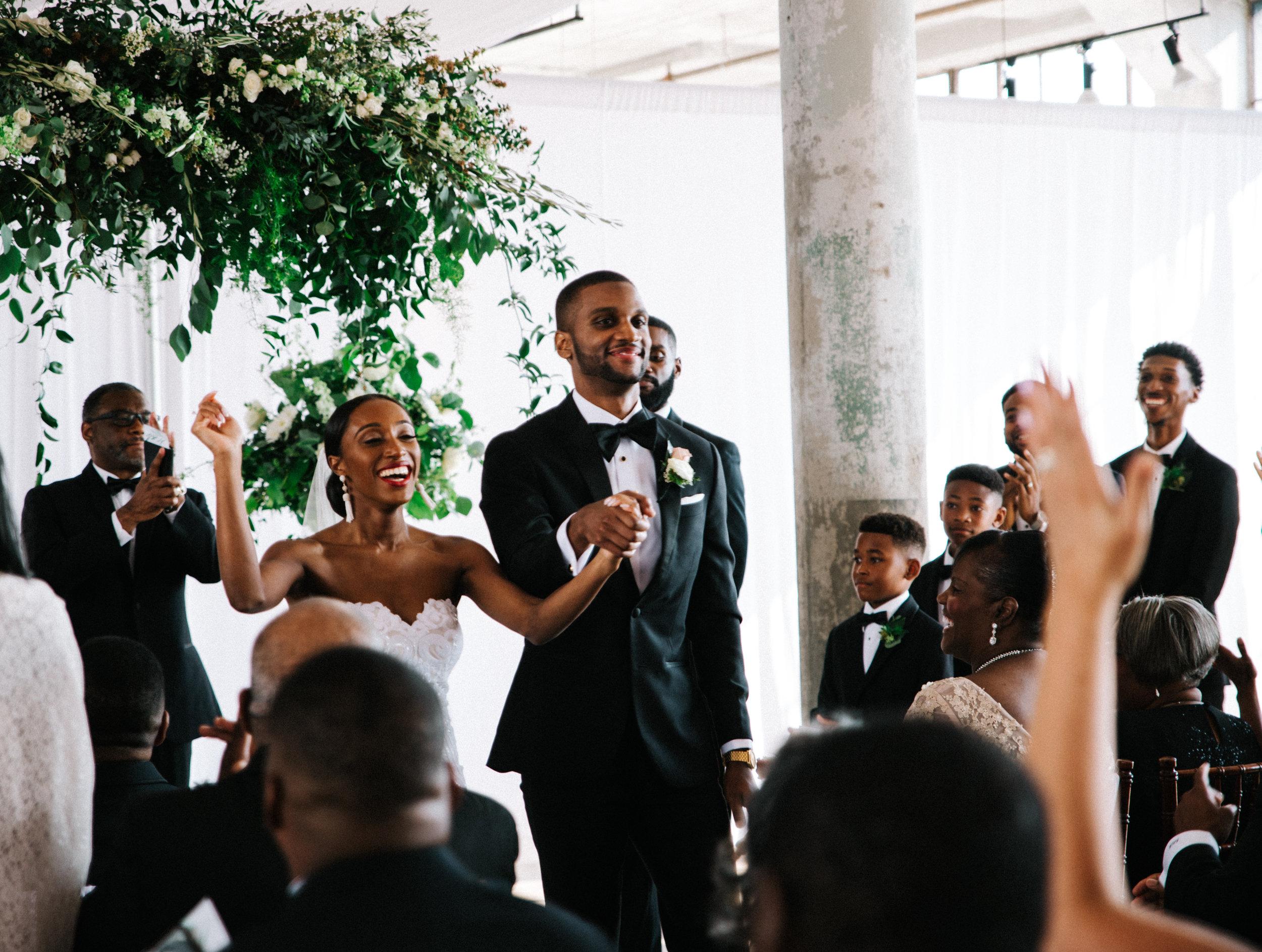 The Lofts at Union Square, High Point, NC. Wedding Ceremony photos. North Carolina Wedding Photographer, Marina Rey Photography.