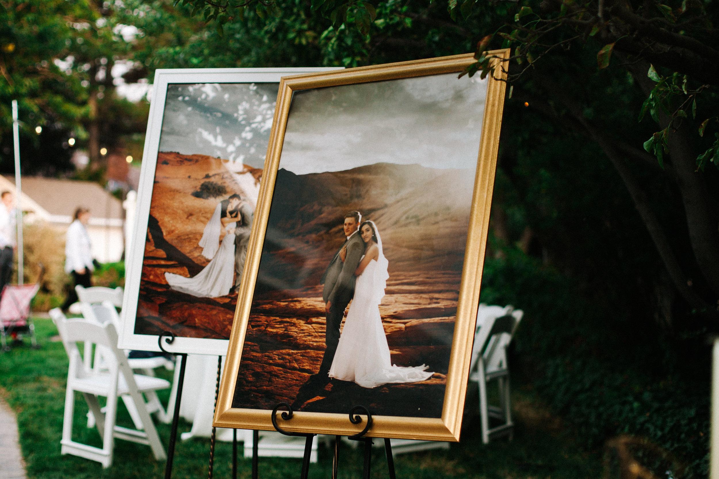 Wedding details, backyard wedding inspiration, wedding display inspiration, Salt Lake City wedding, Salt lake city wedding photographer, Utah wedding, Utah wedding photographer