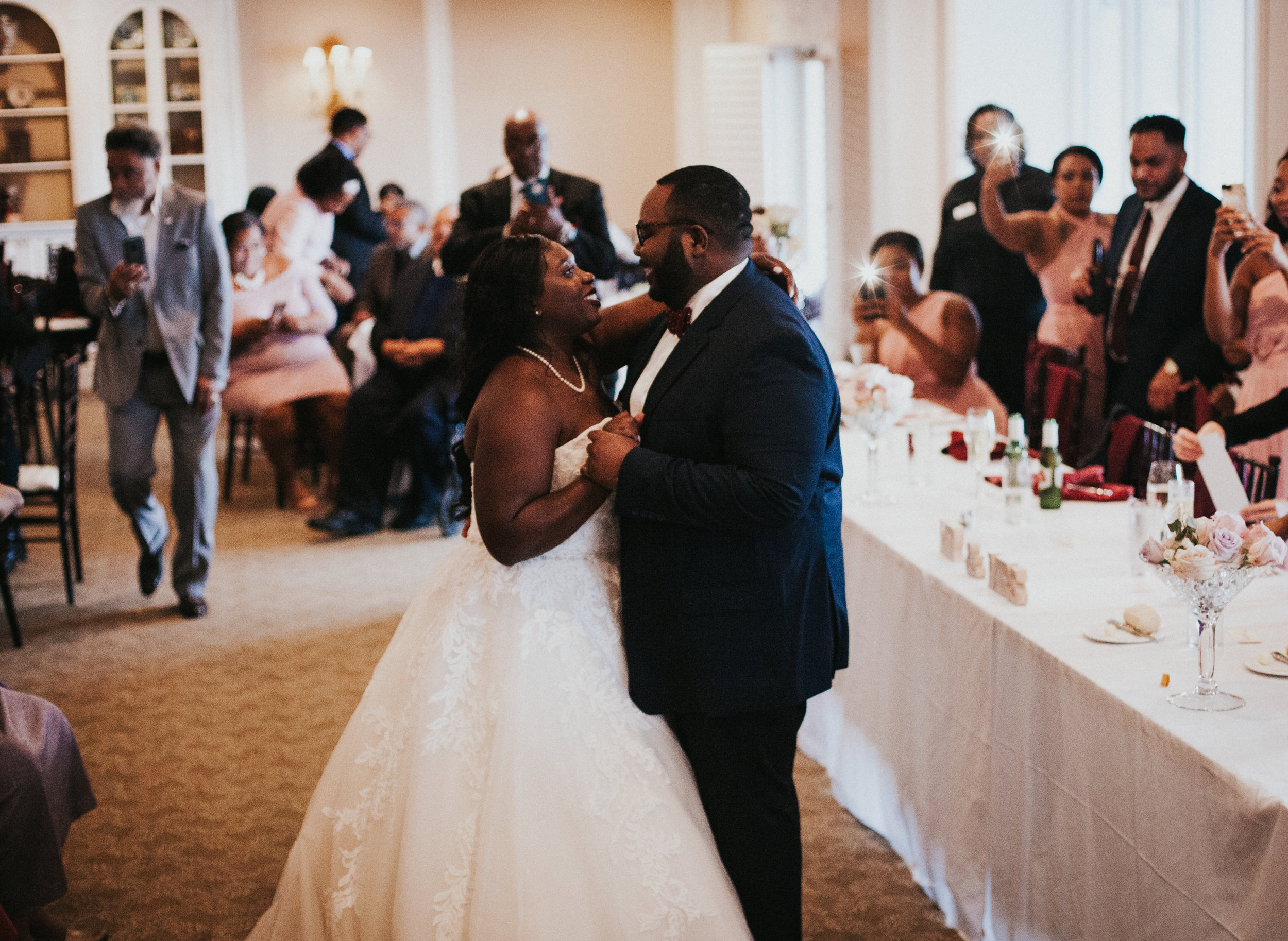 Hope Valley Country Club, Raleigh NC | Fall wedding | Wedding reception photos | First dance photos | Marina Rey Photography