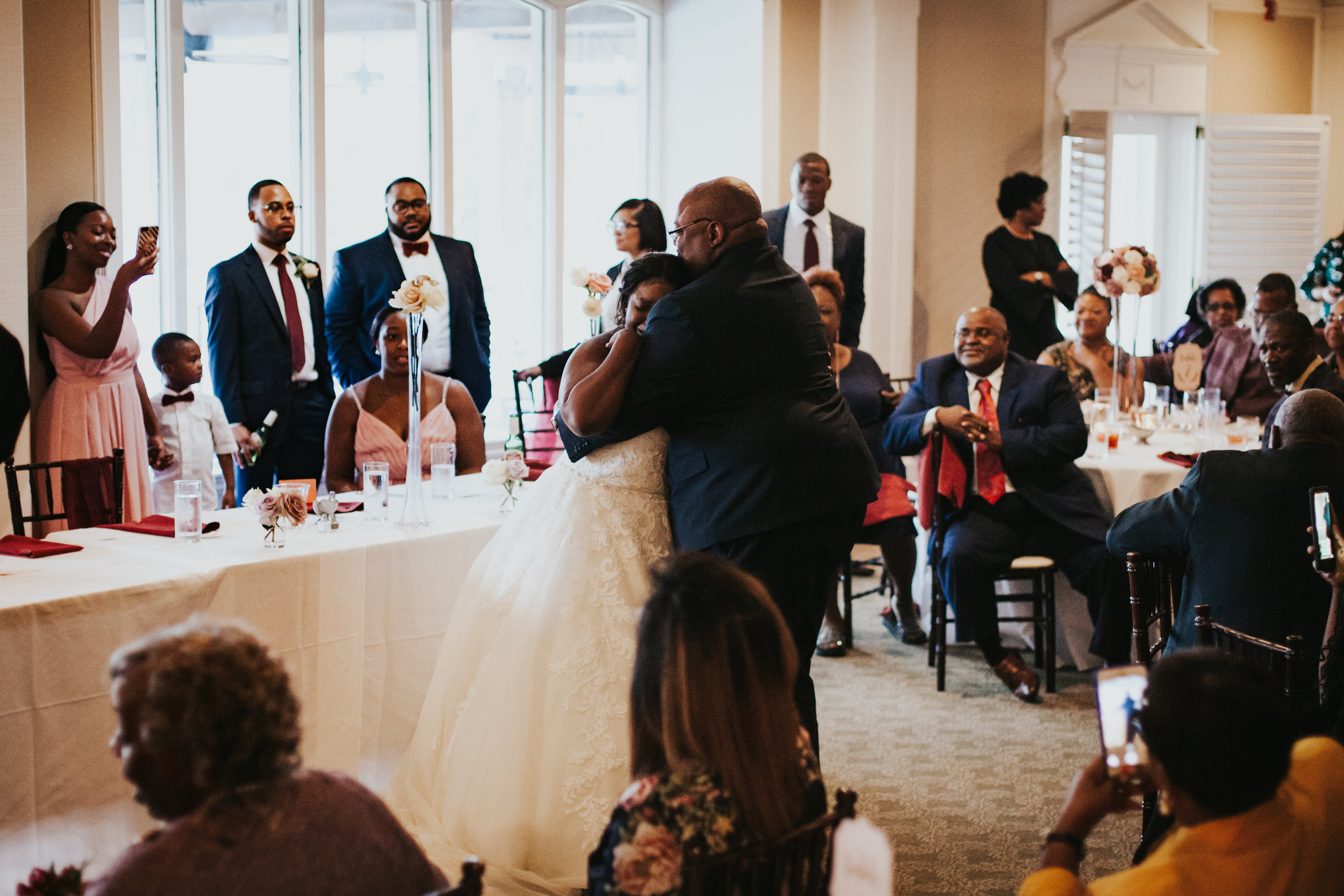 Hope Valley Country Club, Raleigh NC | Fall wedding | Wedding reception photos | Daddy-daughter dance photos | Marina Rey Photography