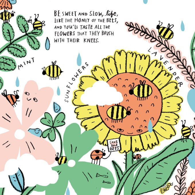 Be still, life. An illustrated poem book by  Ohara Hale  about living with present awareness.