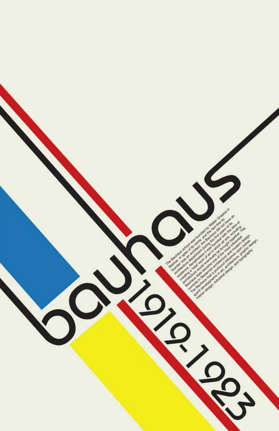 Bauhaus school of design inspired a whole new trend in typography and visual design. Something discovered at MoMA at NGV.