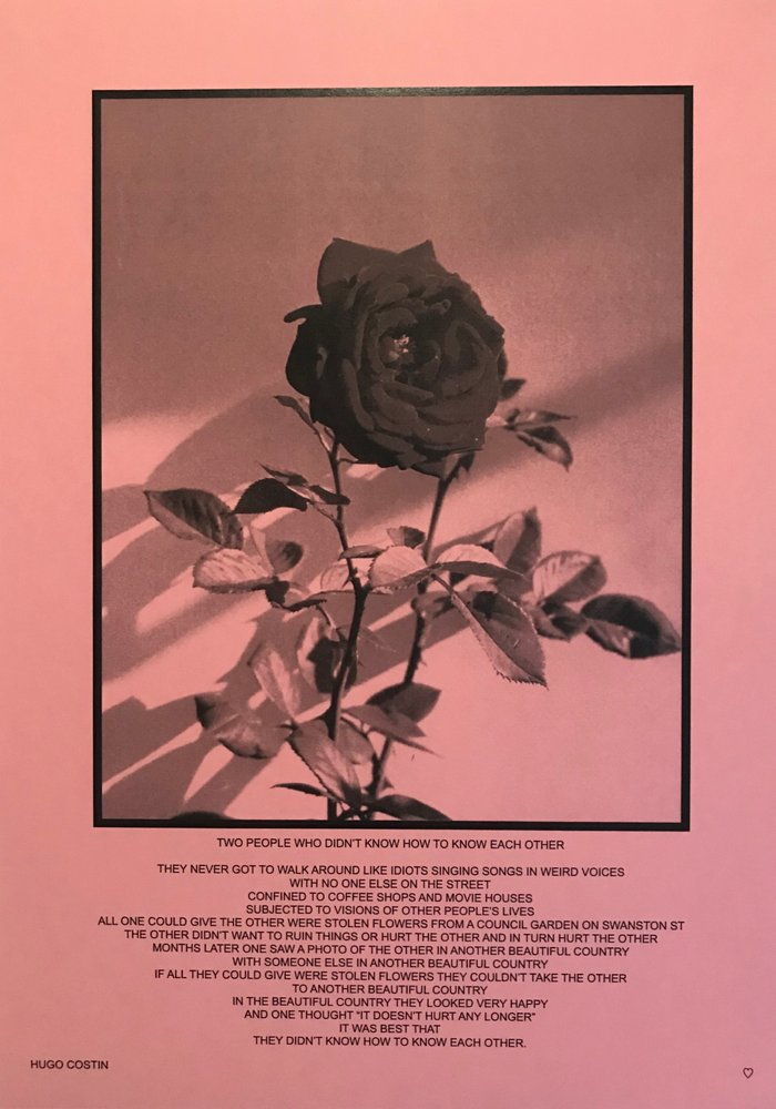 Hugo also teamed up with designer Will Neill to release prints with original poetry.