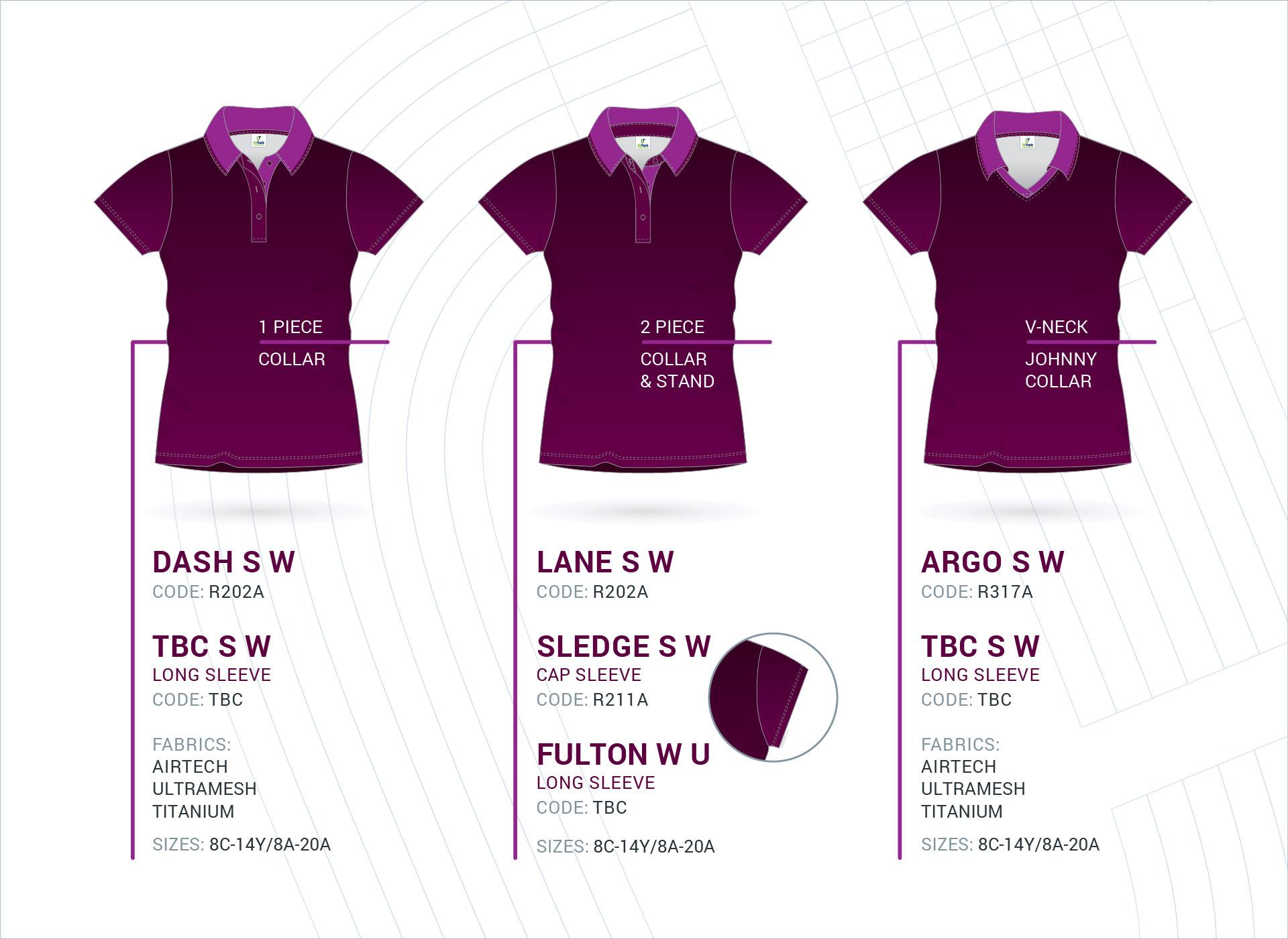 Women's Set-In Sleeve Polo's