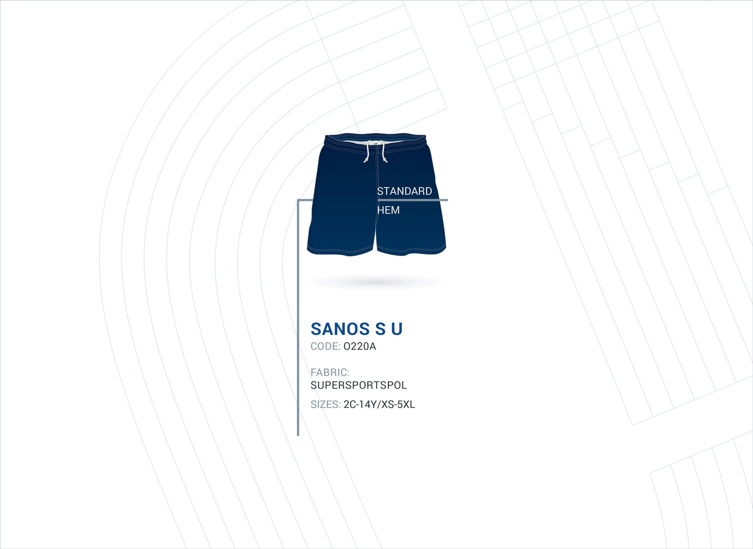 Unisex Basic Rugby Shorts