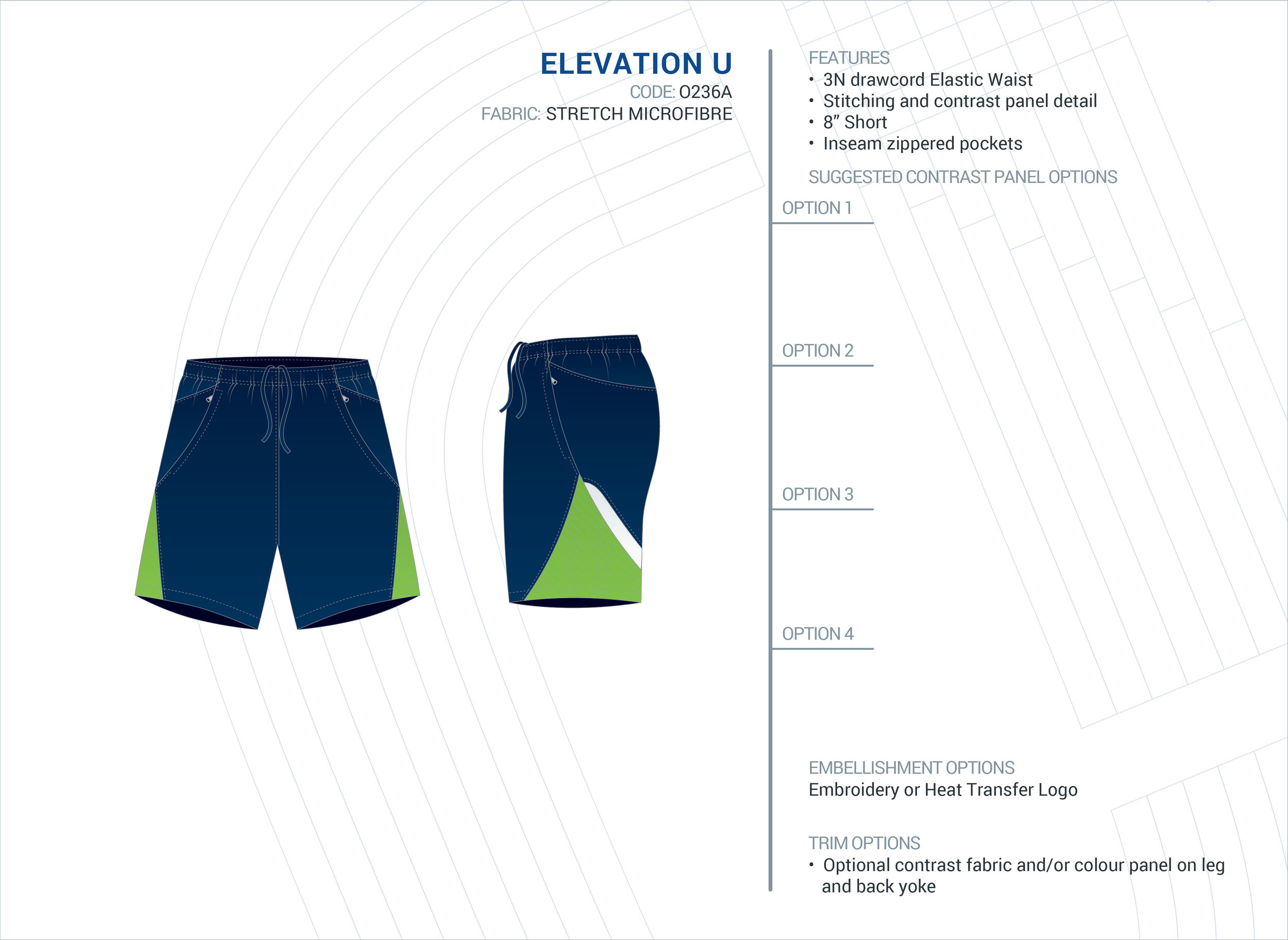 Unisex  Elevation  Stretch Microfibre Short
