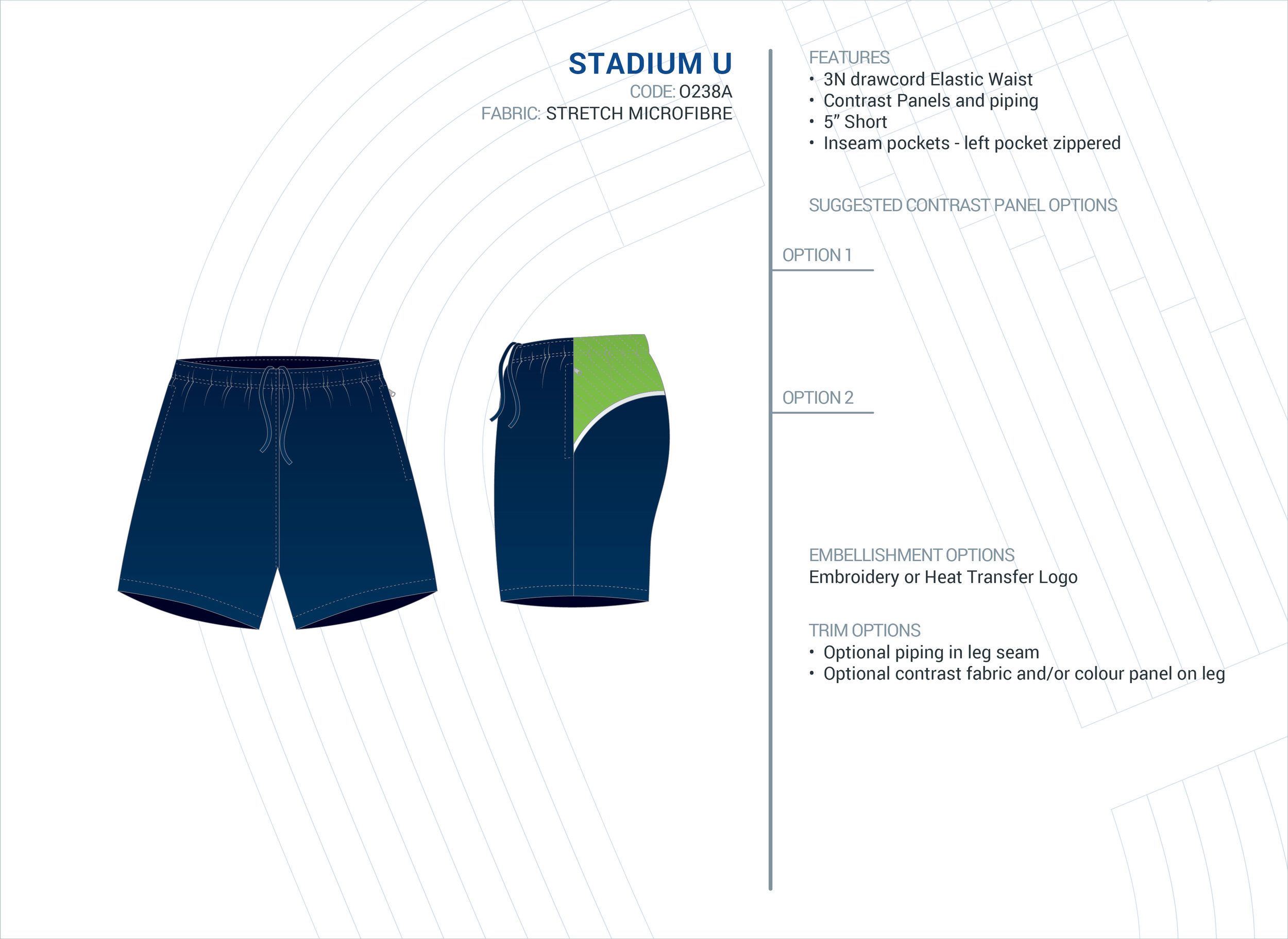 Unisex  Stadium  Stretch Microfibre Short