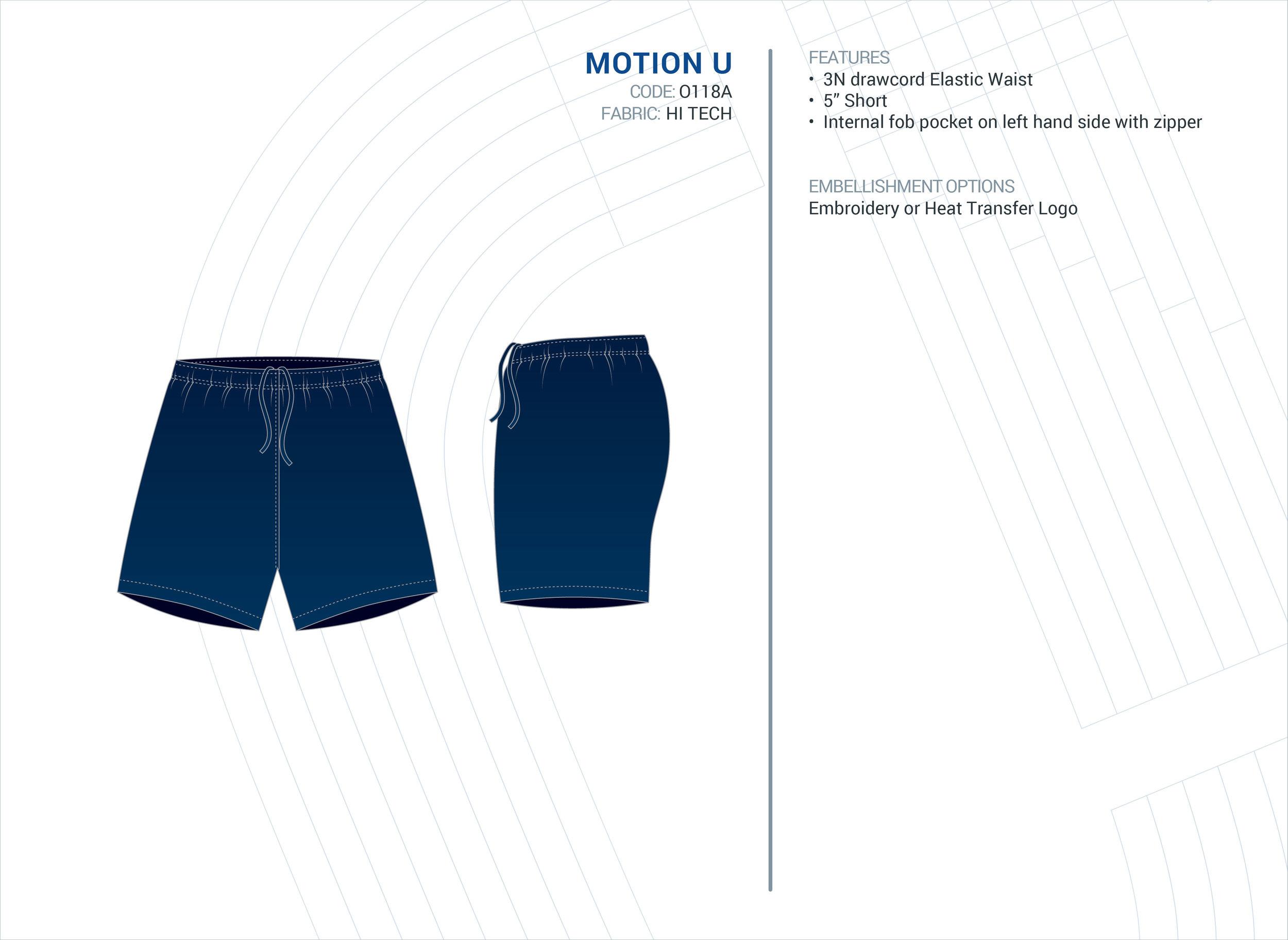 Unisex  Motion  Hi-Tech Short