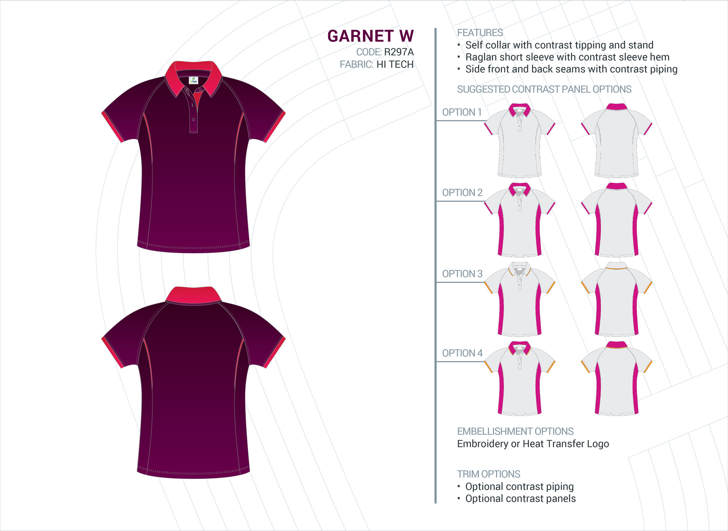 Women's Garnet Hi-Tech Polo