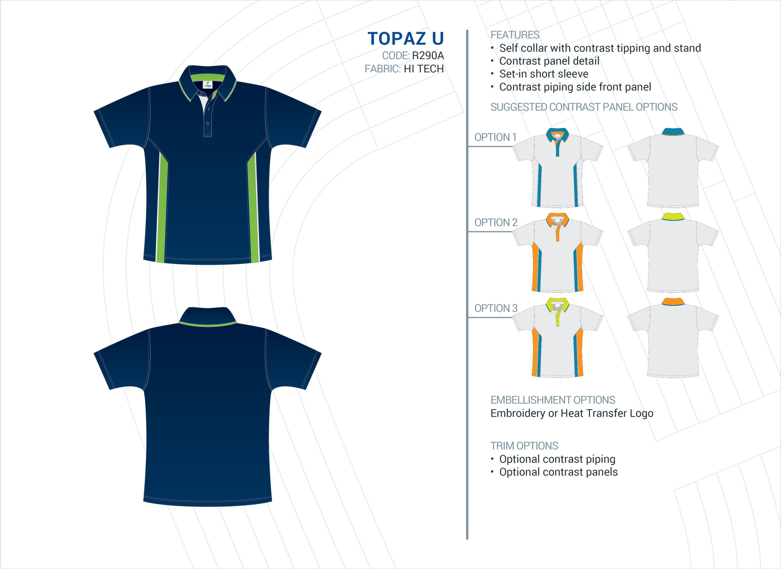 Unisex Topaz Hi-Tech Polo