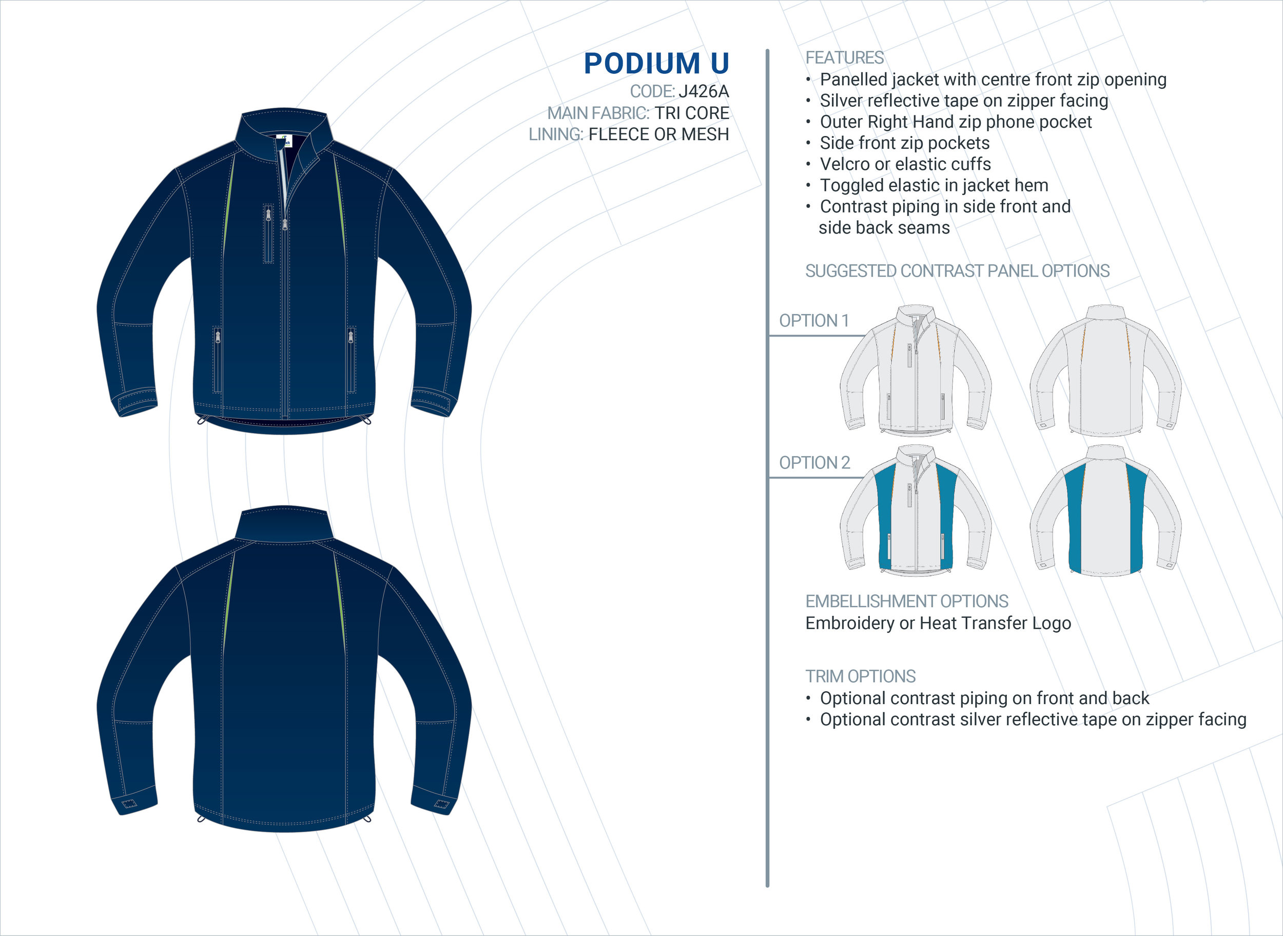 Unisex  Podium  Tri-Core Jacket