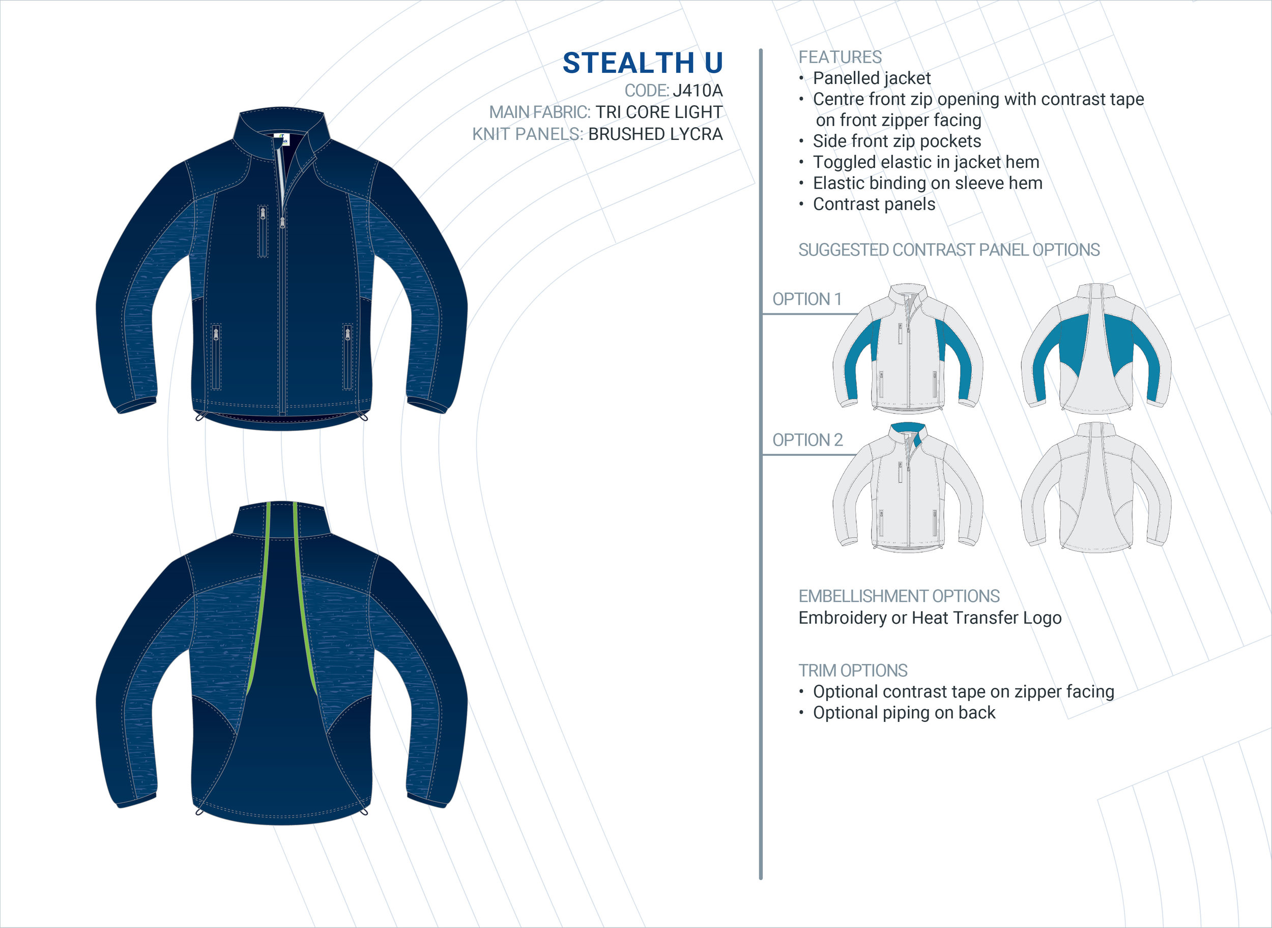 Unisex  Stealth  Tri-Core Light Jacket