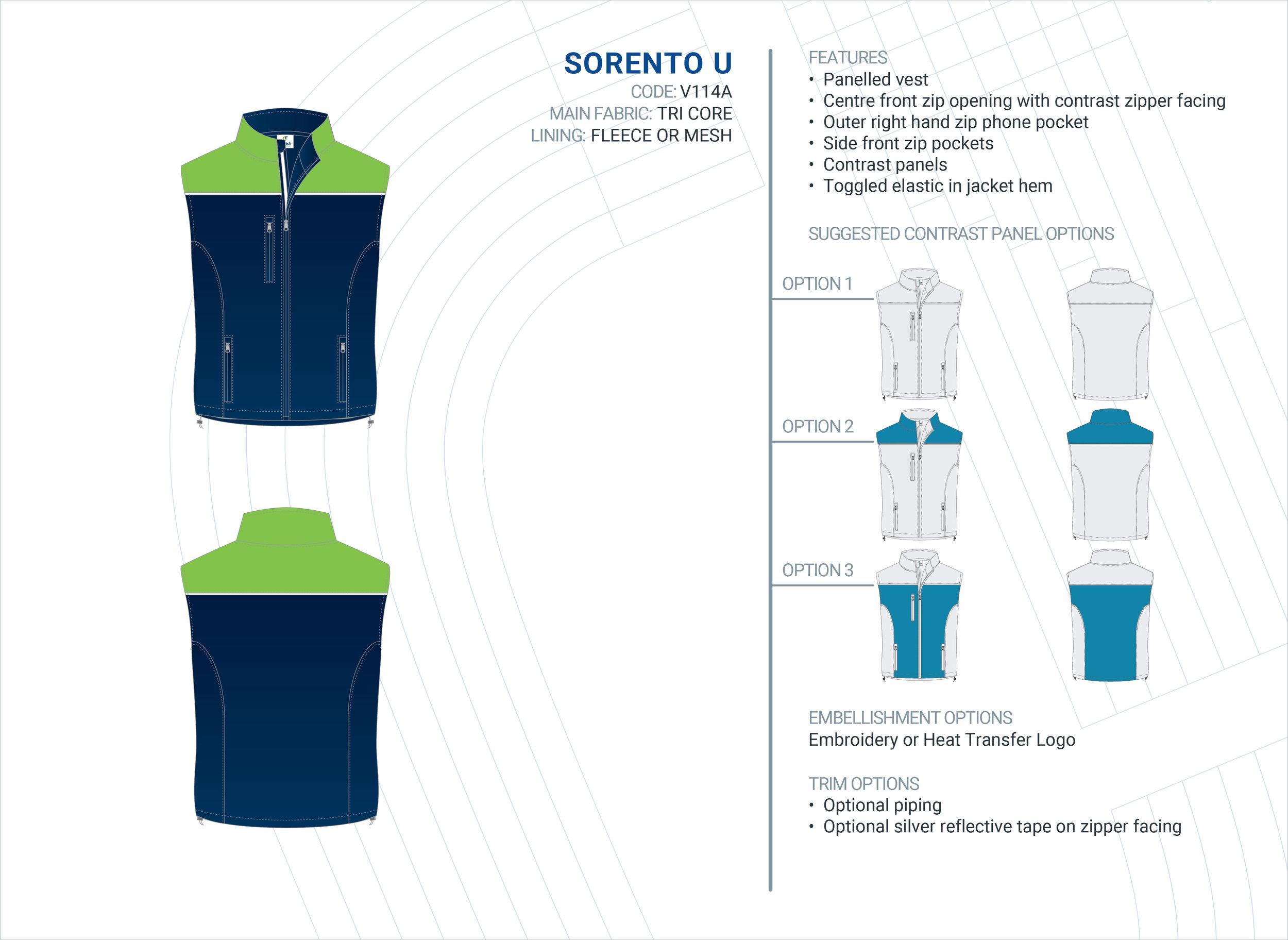 Unisex Sorento Tri-Core Vest