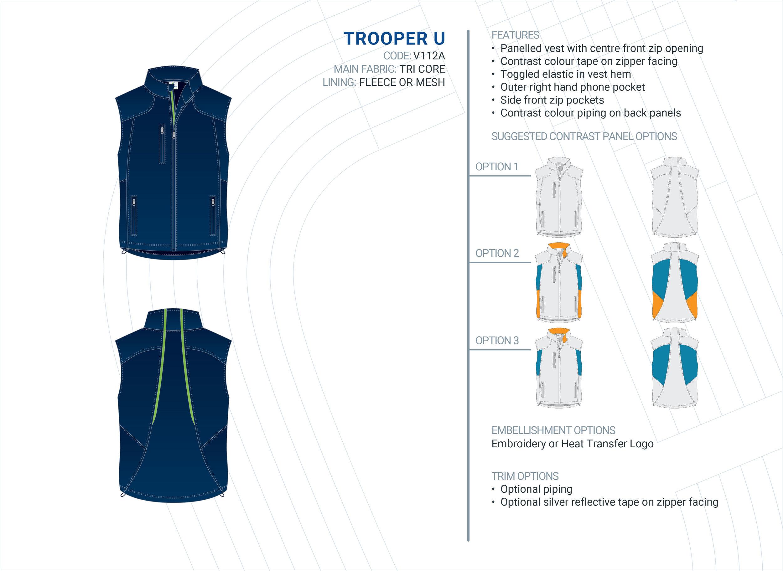 Unisex Trooper Tri-Core Vest