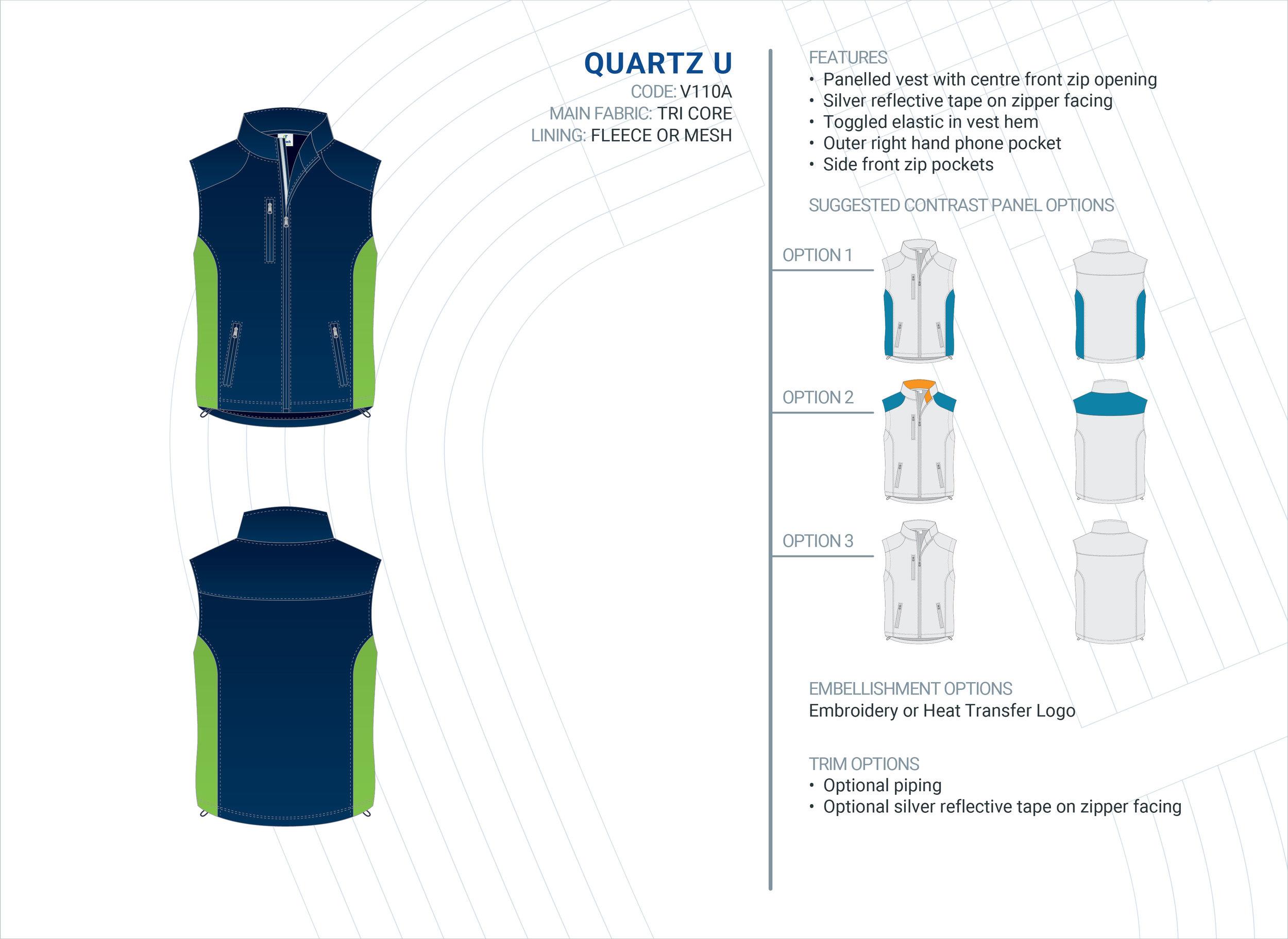 Unisex Quartz Tri-Core Vest