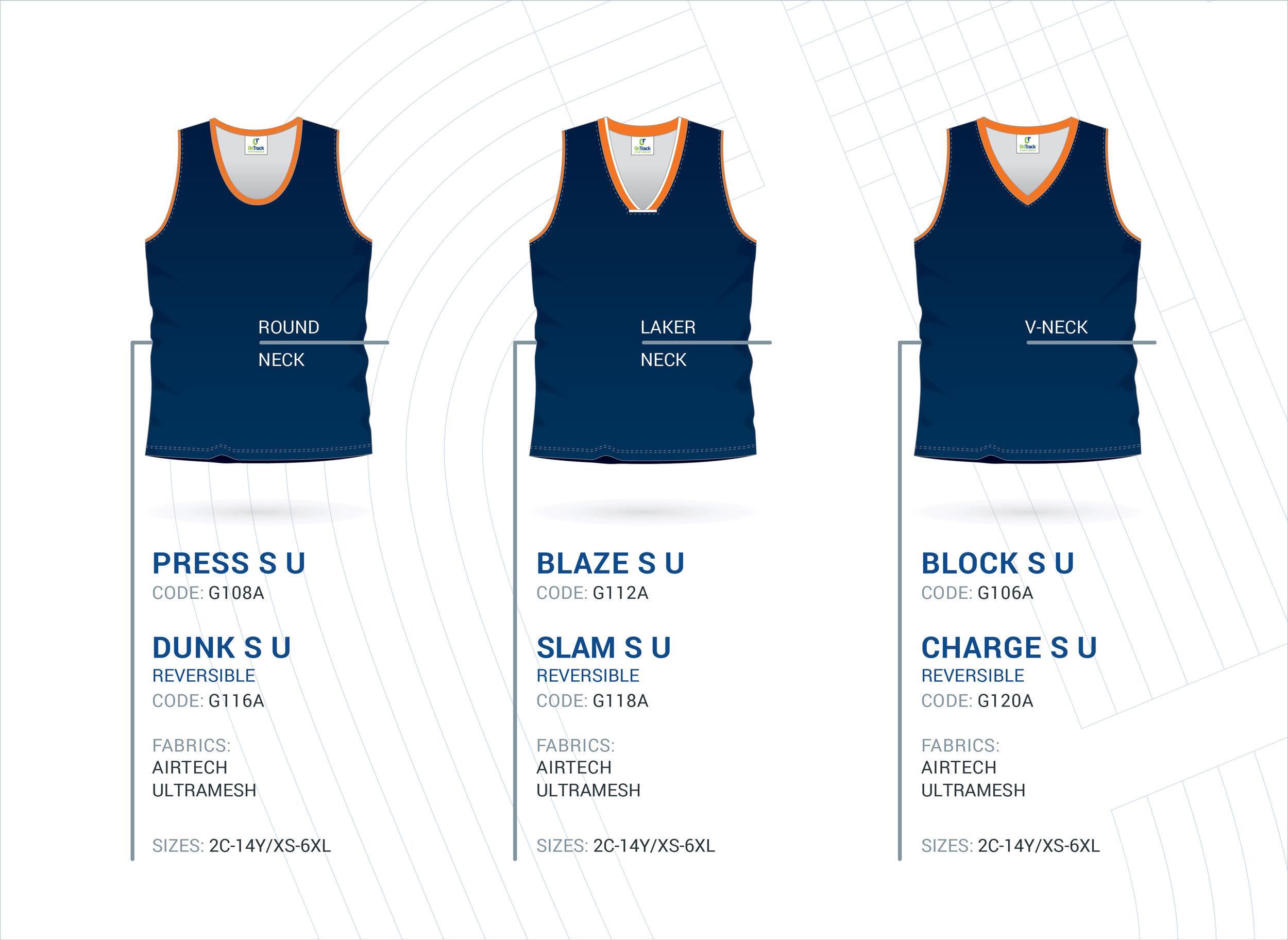 Unisex Basketball Singlets