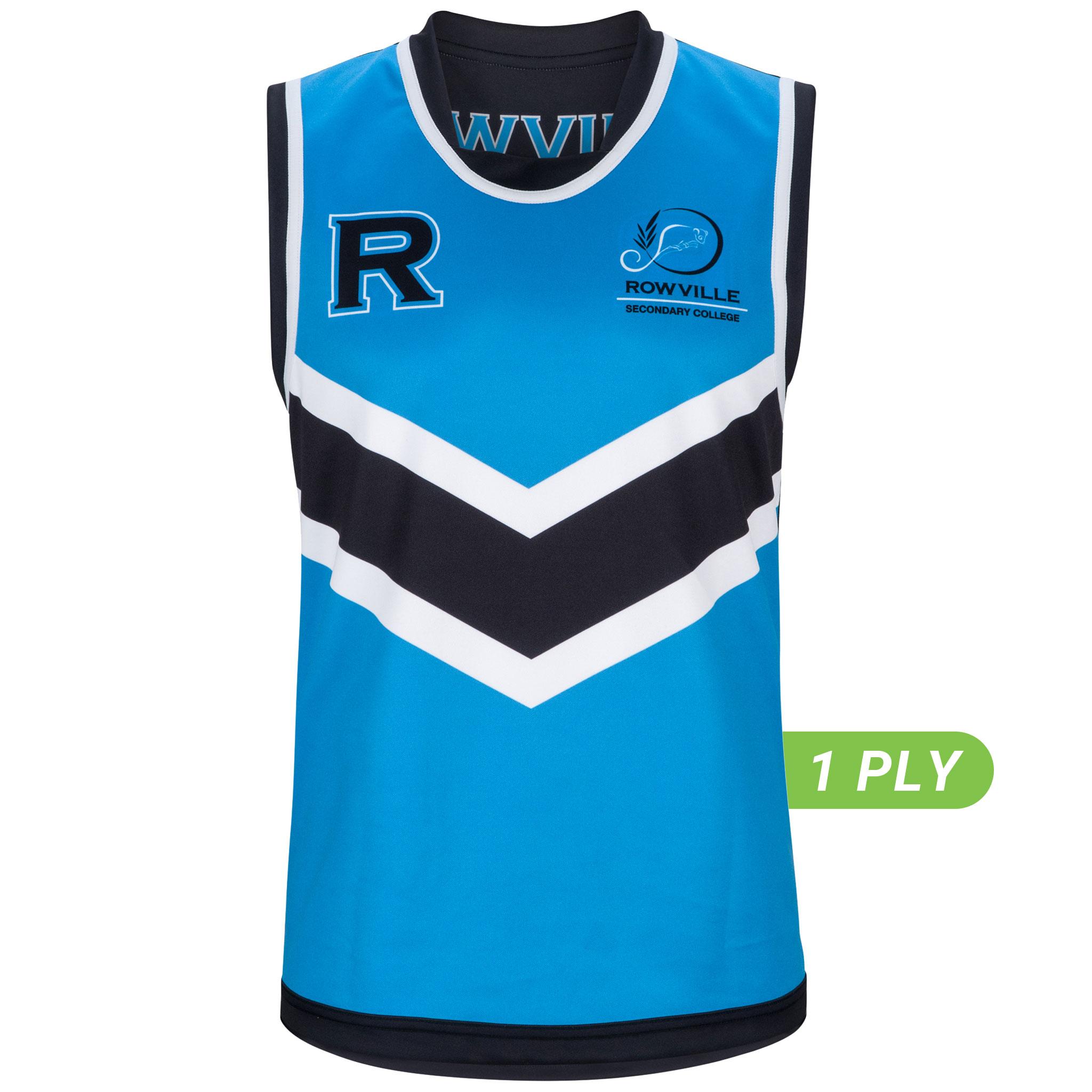 1 PLY Reversible AFL Top