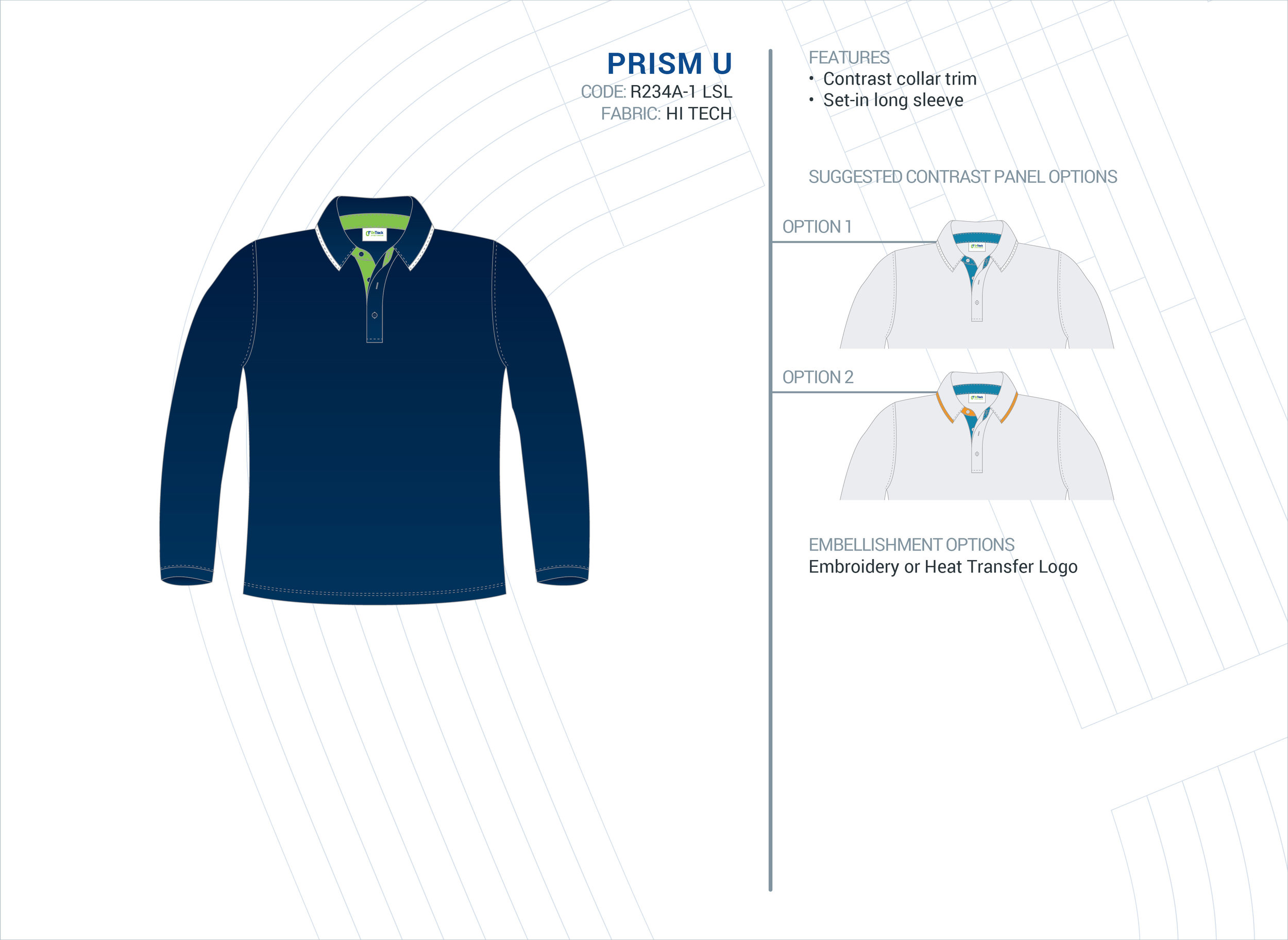 Unisex  Prism  ELC Long Sleeve Polo