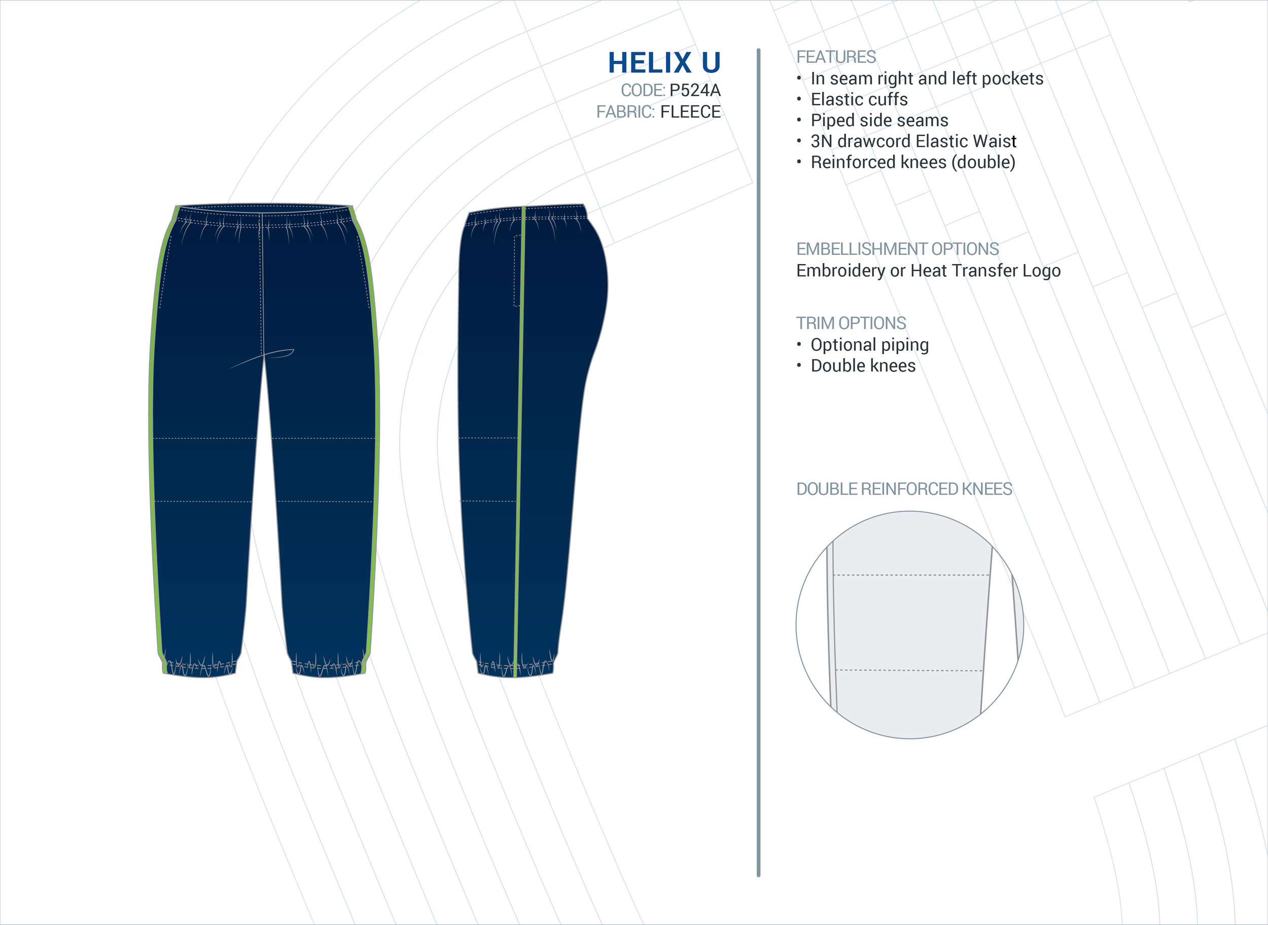 Unisex  Helix  ELC Fleece Trackpants