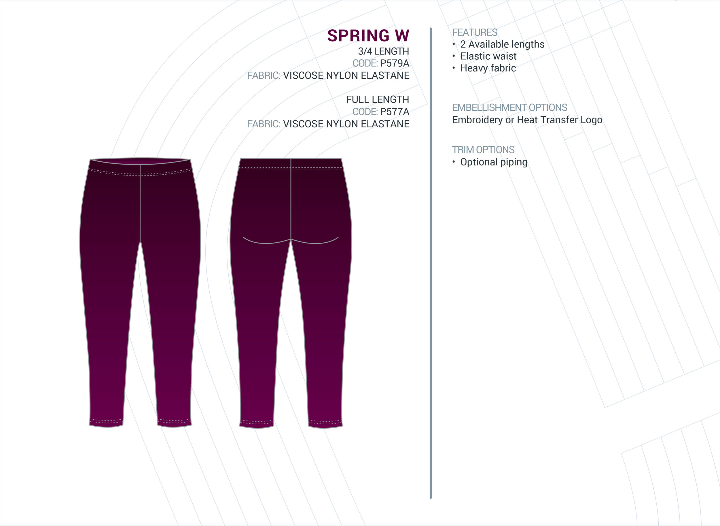 Girls  Spring  ELC Tight - Full & 3/4