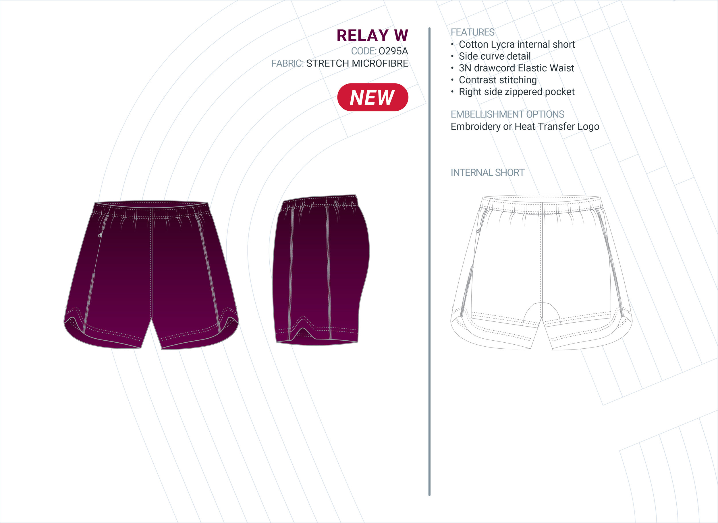 Women's  Relay  Stretch Microfibre Short