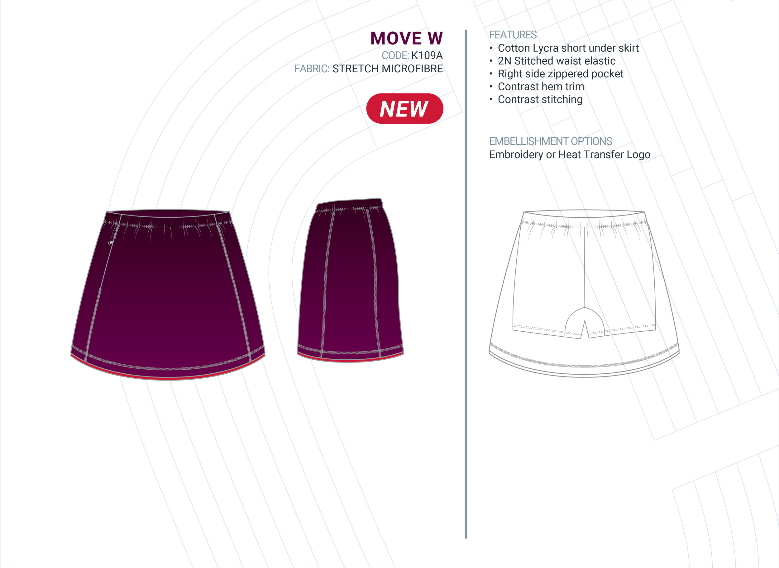 Women's  Move  Stretch Microfibre Skort