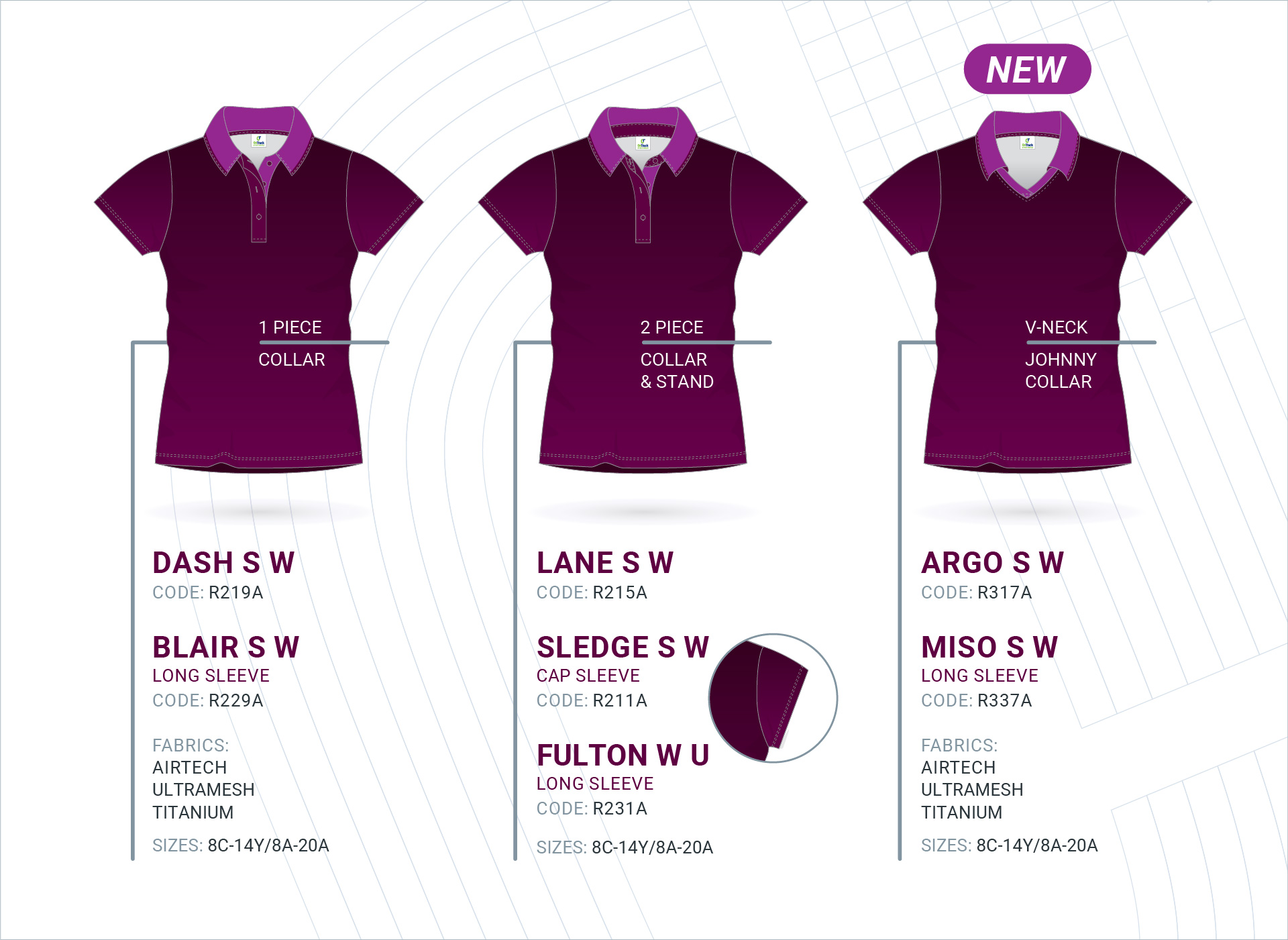 Women's Set-In Sleeve Polo's
