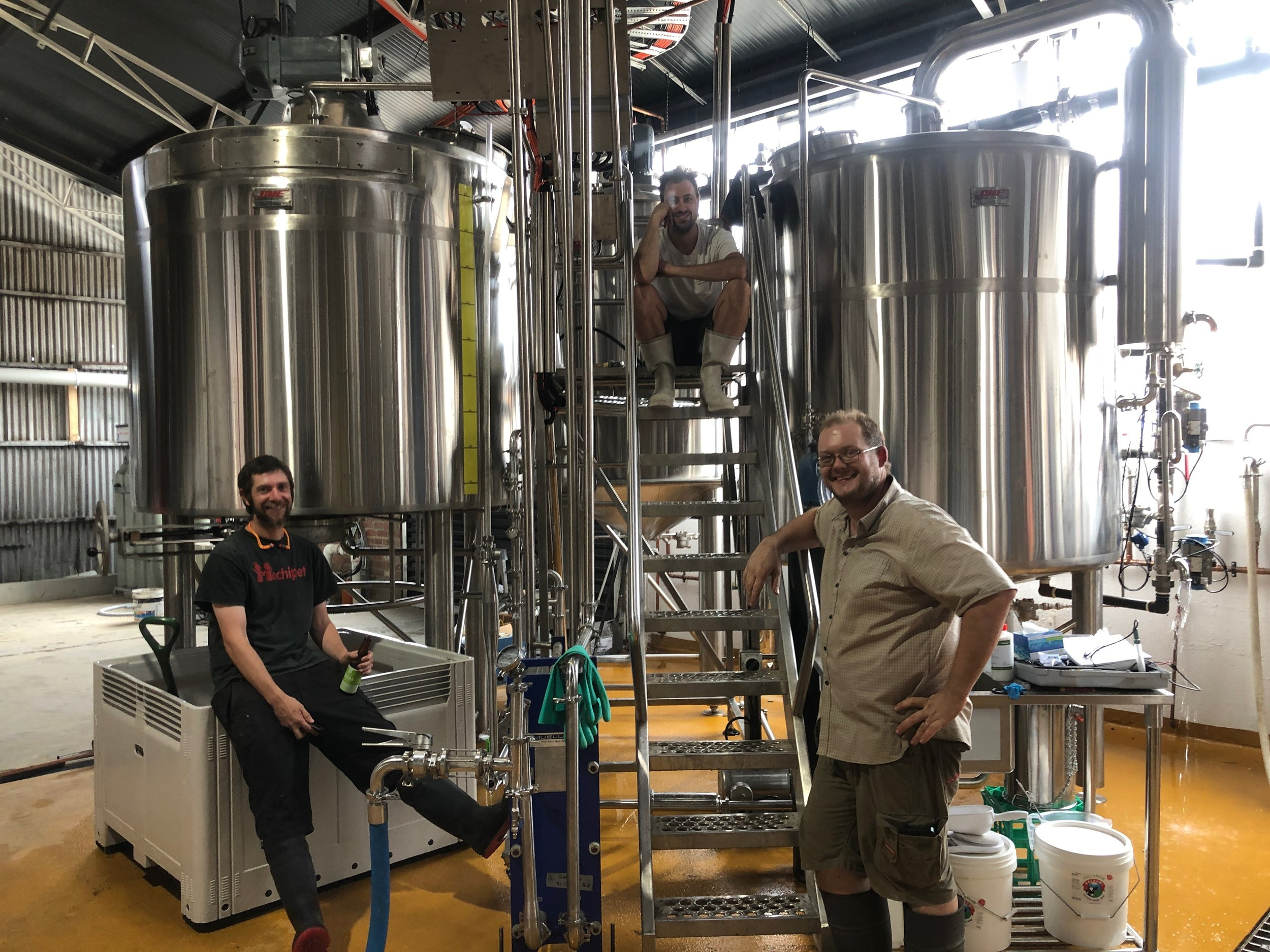 Paul and Ned our Brewers and Justin our Head Brewer