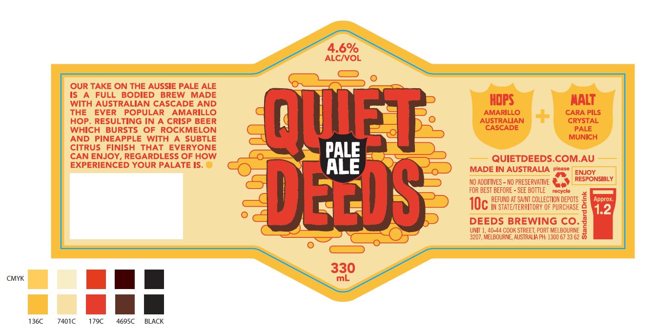 2nd version of the Quiet Deeds label