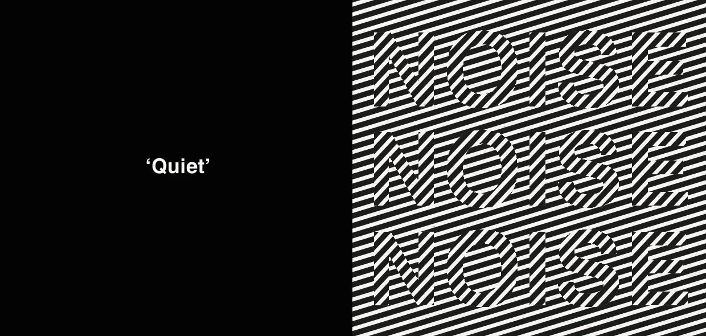 Quiet versus noise is the centerpiece of this design
