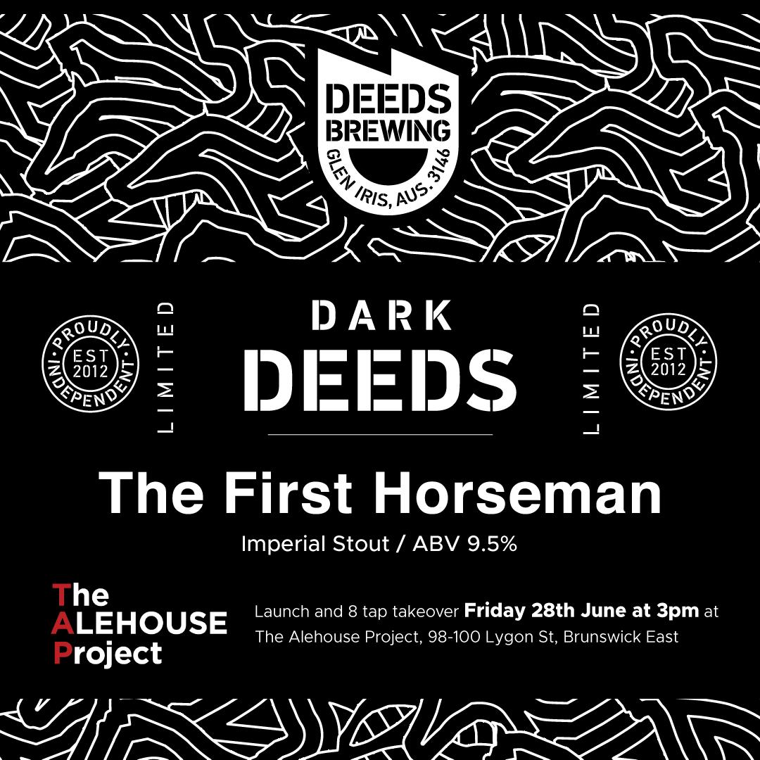 Dark Deeds - The First Horseman launch Invitation