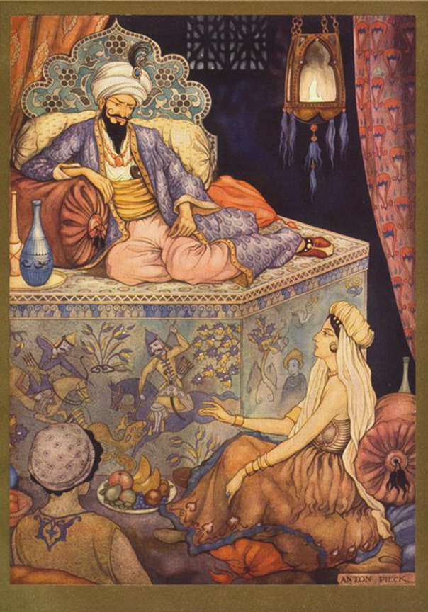 Scheherazade     could  tell a story to save her life.