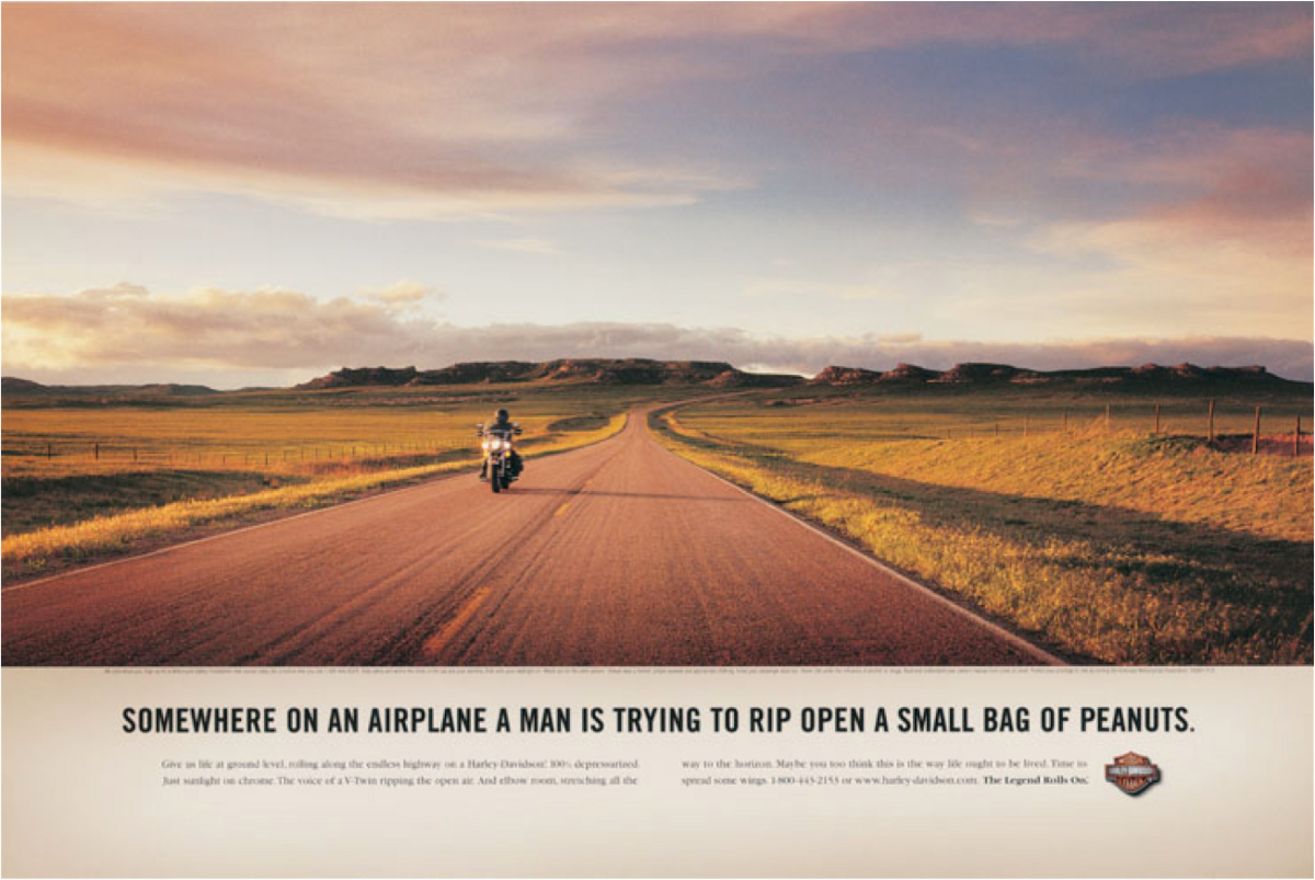 One of my all-time favourite stories in advertising. Do you want to be the man in the photo or the man on the plane?
