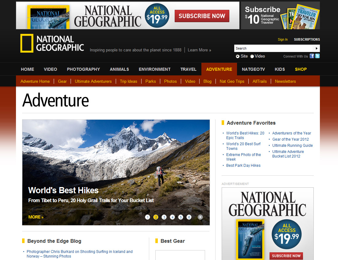 An example of the free content created by Nat Geo.