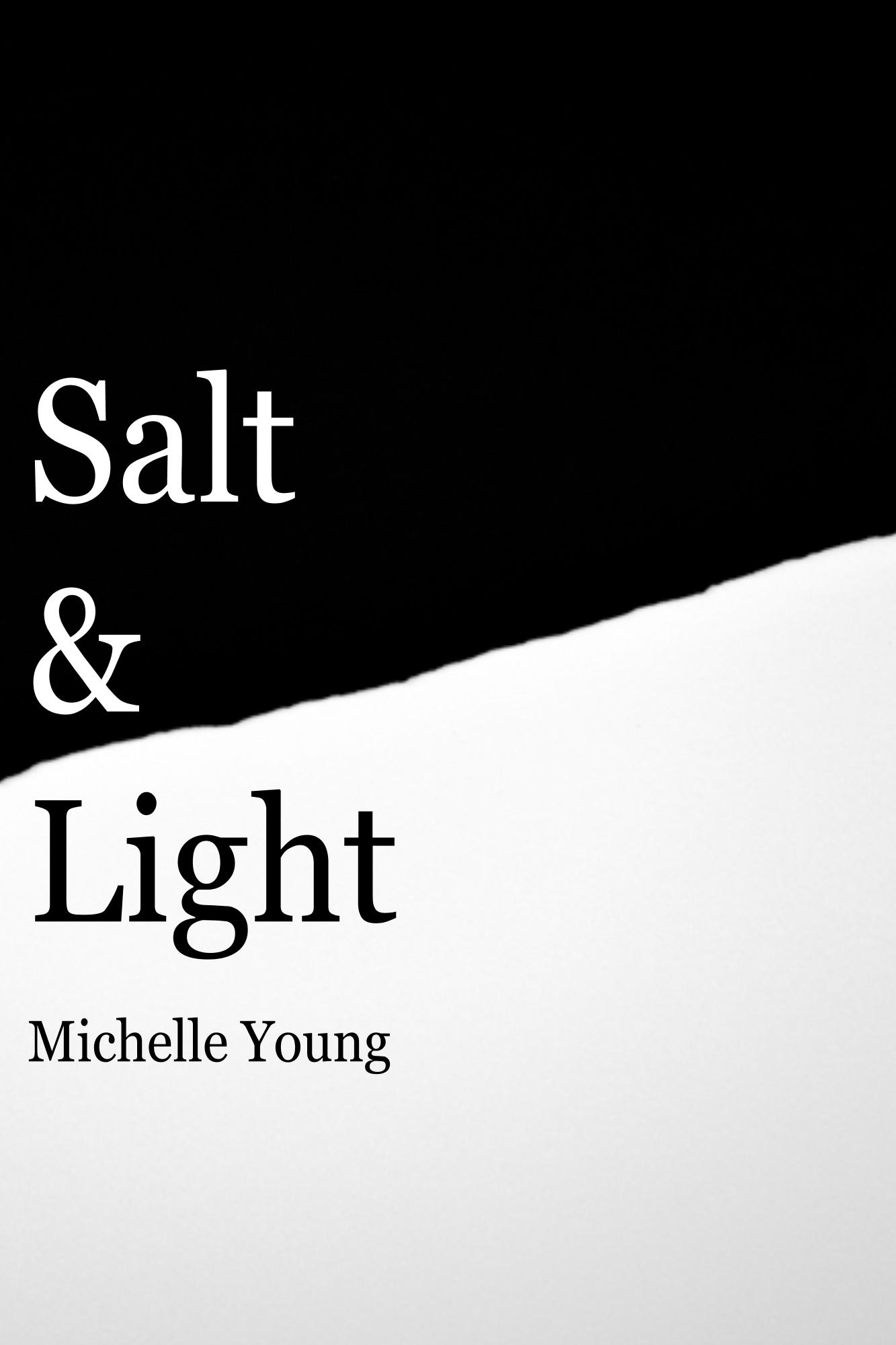 Salt & Light - Salt & Light is a book of prose and poetry, shedding light onto invisible struggles and journeys through mental illness, abuse and infertility. The book is divided in two parts, Salt; representing darkness of the past and Light; representing the hopefulness of the future. Salt & Light takes readers through a journey of pain and ends with emotional healing and self-worth.