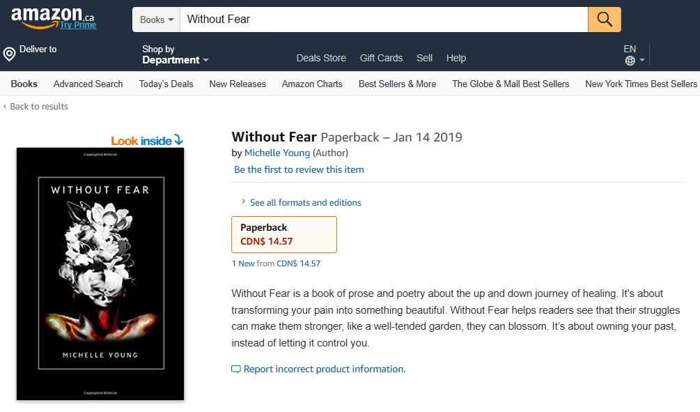 """Without Fear"" Published on Amazon - January 14th, 2019"
