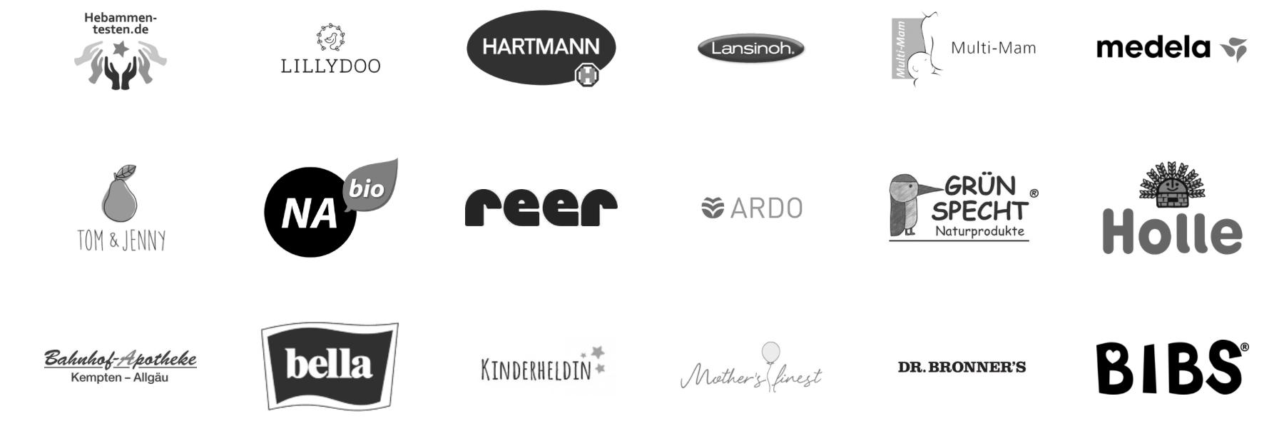 Wir kollaborieren und Partnern nur mit hochwertigen Marken und erstklassigen Produkten die unsere erfahrenen Hebammen empfehlen
