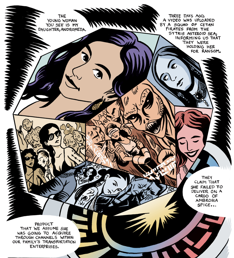 Andromeda - published in Once Upon a Time Machine vol. 2: Greek Gods and LegendsDark Horse Comics - 2018editors: Andrew Carl and Chris Stevens