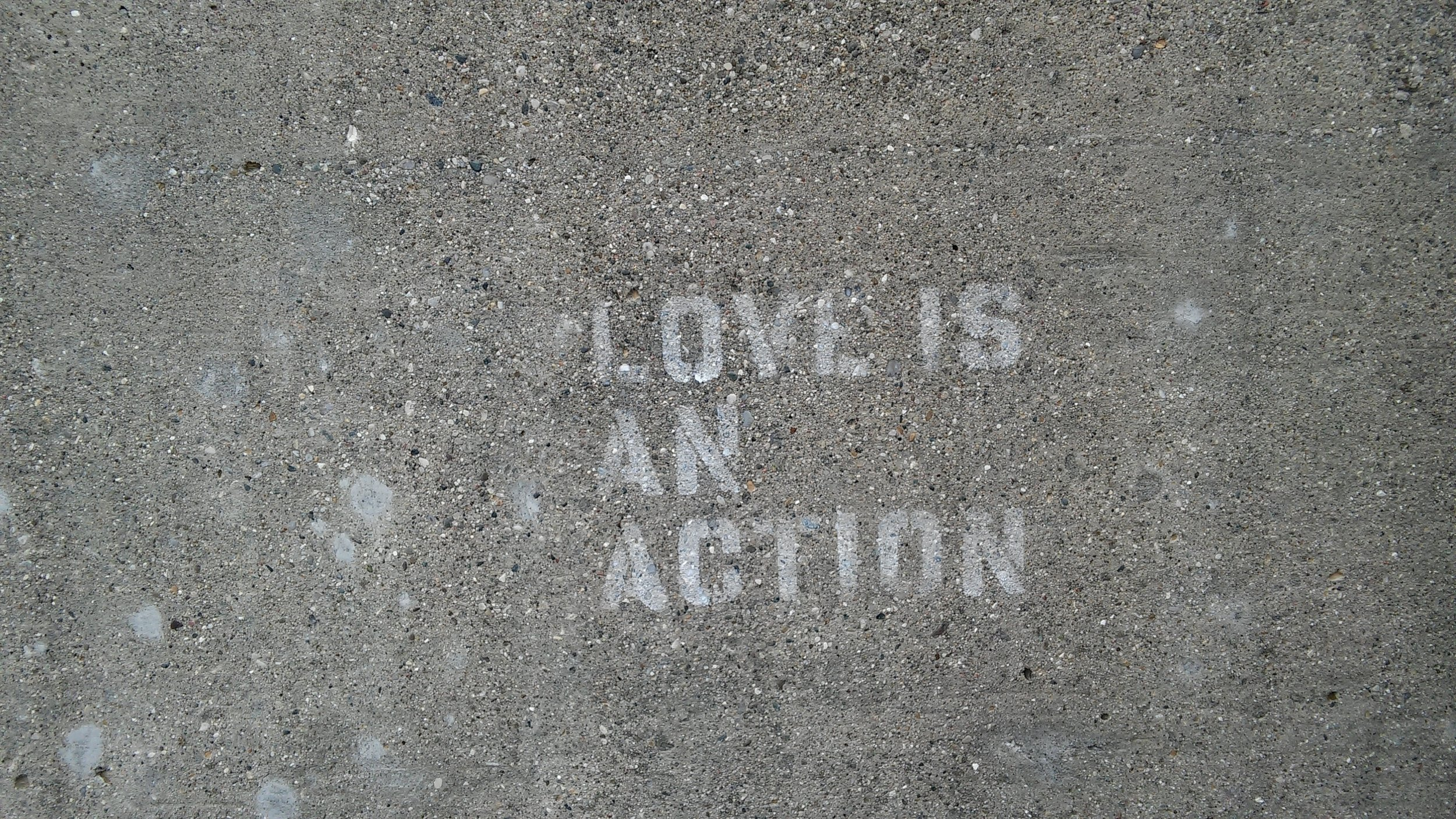 Found this stenciled on the wall outside Porter Hall on Campus a few months back.