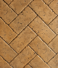 Tumbled Travertine   Tumbled Travertine can be grouted for added detail and beauty. The recessed grout lines and texture protect the antiquing, allowing the installer the choice of no sealer, making it perfect around swimming pools for less slippage.