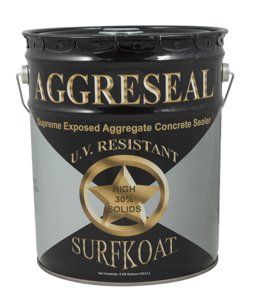 Aggreseal Supreme   -Solvent Based Copolymer Sealer  -High Gloss 30% Solids Content  -Non-Yellowing, Professional Grade  -Available in Clear, Brown, or Gray  Aggreseal Supreme is a high gloss, UV resistant solvent based acrylic exposed aggregate sealer available in clear, as well as brown and gray tinted. Aggreseal Supreme offers improved resistance to rain, the sun, freezing temperatures, stains, and other pollutants that sometimes can be hazardous to concrete. Aggreseal Supreme provides superior adhesion to properly prepared concrete. Applying Aggreseal Supreme to exposed aggregate will also help to eliminate loose pebbles and premature wear.  Aggreseal Supreme brown is intended for use on exposed pea gravel aggregate concrete. Gray tinted Aggreseal Supreme is intended for exposed limestone chip aggregate concrete only. Apply brown or gray tinted sealer to other forms of concrete may result in unpleasant streaking.   Tech Data Sheet   Price: $90.65
