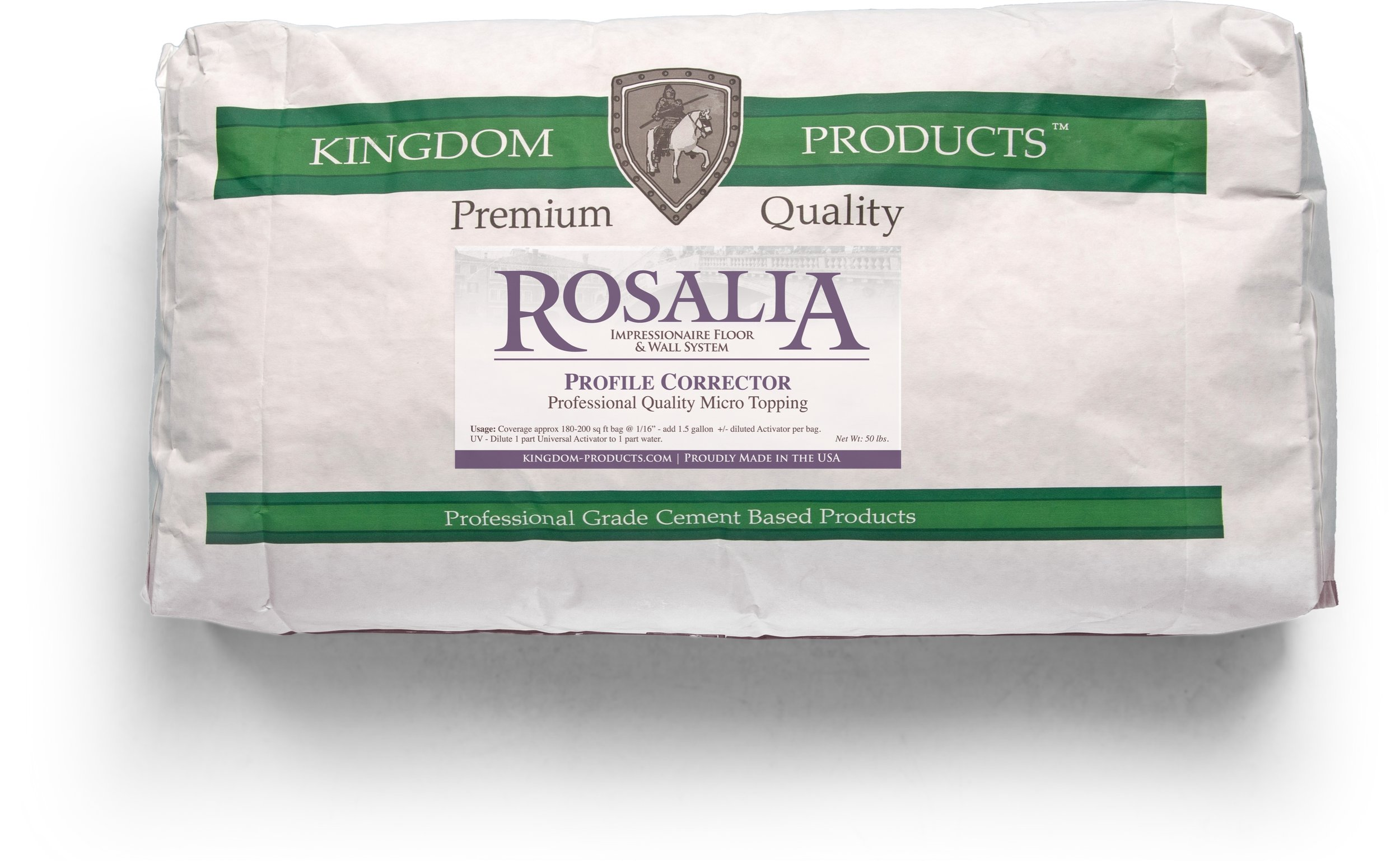 Rosalia Profile Corrector   Packaged in 50lb Bags   Technical Data