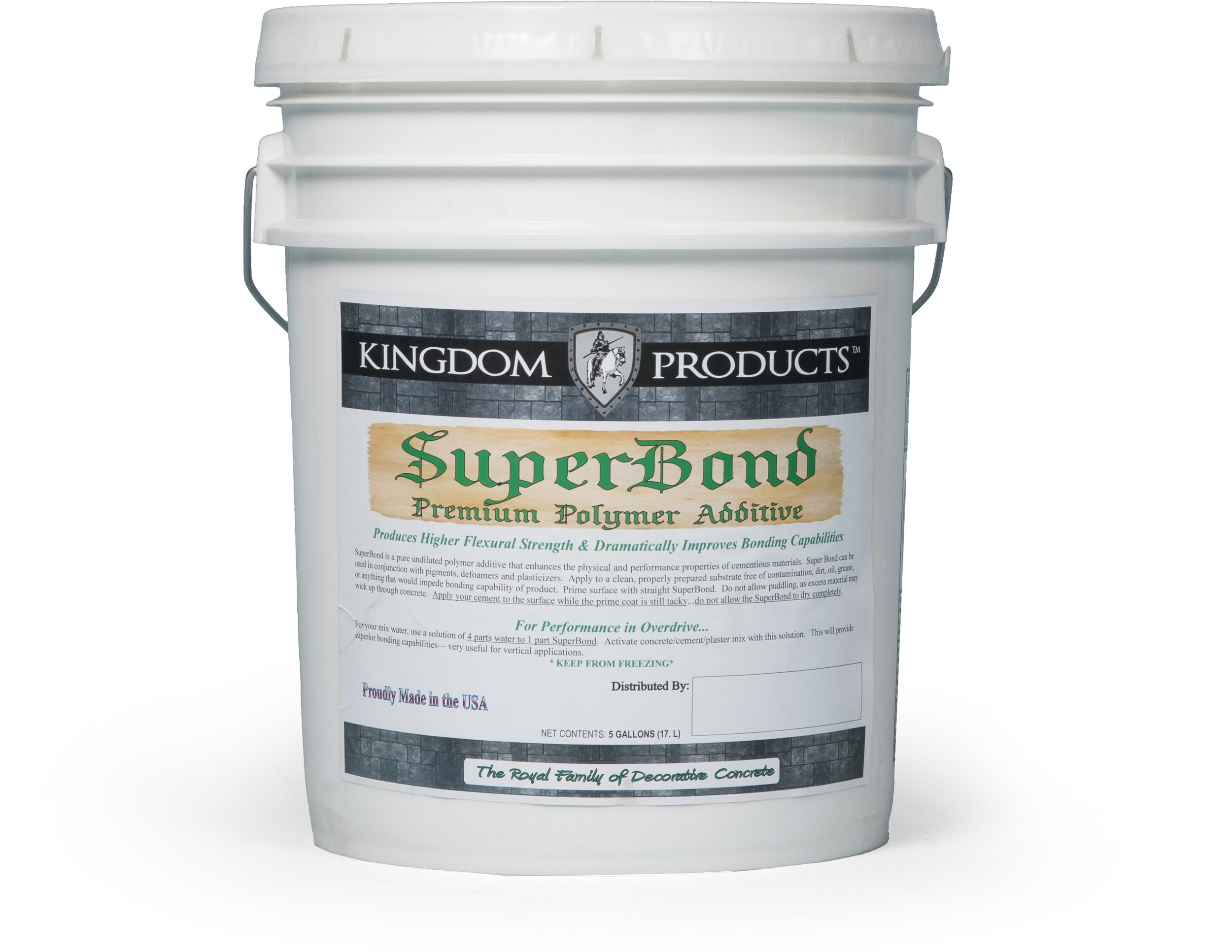 SuperBond   Packaged in 1 Gallon and 5 Gallon Pails.   Technical Data