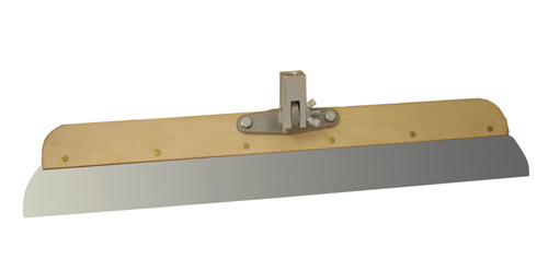 """24"""" Wood Frame Stainless Steel Smoother w/ Adaptor"""