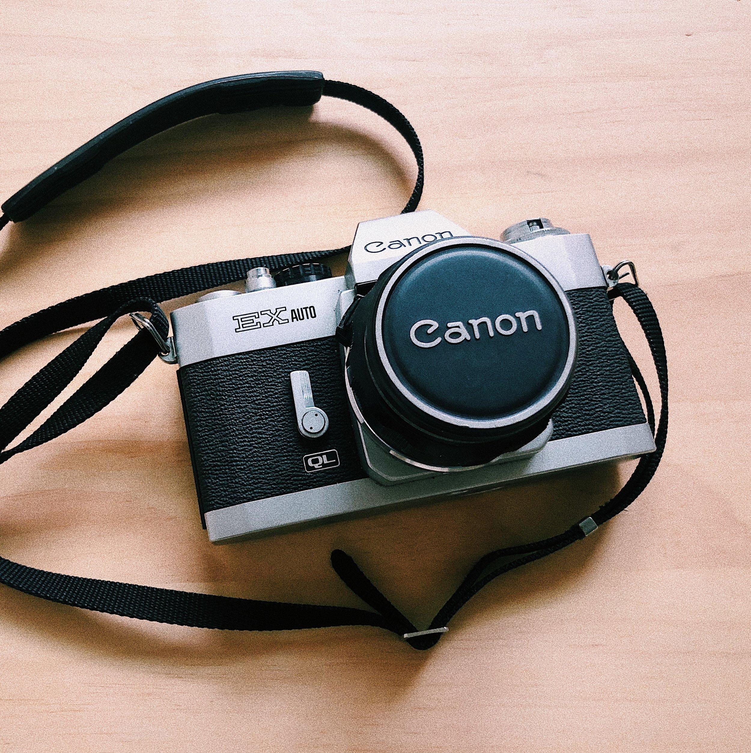 阿公的老Canon相機