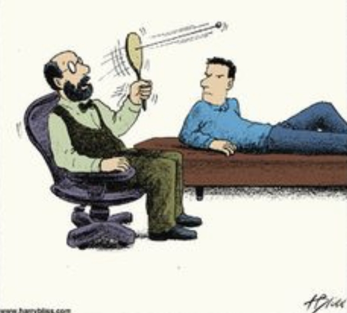 """""""Go ahead. I'm listening…""""    Physical therapists; hypnotherapists; psychotherapists…each is very different but they are all """"therapists"""". Maybe it is because I am in the mental health field but I think it is safe to say that """"in general"""" when someone is talking about """"therapy"""", they mean psychotherapy—or talk-therapy. There are many of us from which to choose. I  HOPE  that you never experience a therapist like the one that is pictured here! Like in any profession, we are not """"one size fits all"""" and it makes sense to shop around for a therapist with whom you feel most comfortable. And it makes sense to do some research. Although there are many sites, a great place to start is  www. psychologytoday.com     . This site allows you to filter for gender, education, specialty, location, rates/session and other information like whether the therapist offers a free phone consultation. You may be thinking about the issue of cost. Fortunately, there are some therapists who take insurance. Remember that going to your medical doctor can be a preventive measure. Talk-therapy can be preventive as well. As I like to say, talk-therapy allows for """"the maintenance of good mental health"""". If you are struggling with communication issues, past trauma, depression, anxiety or some other form of emotional distress, seek out a talk-therapist before your specific issues become overwhelming. My specialty is EMDR (Eye Movement Desensitization Reprocessing). Never heard of it? You can read all about this special therapeutic approach on this website. I hope that I will be part of your therapist- shopping-spree!"""