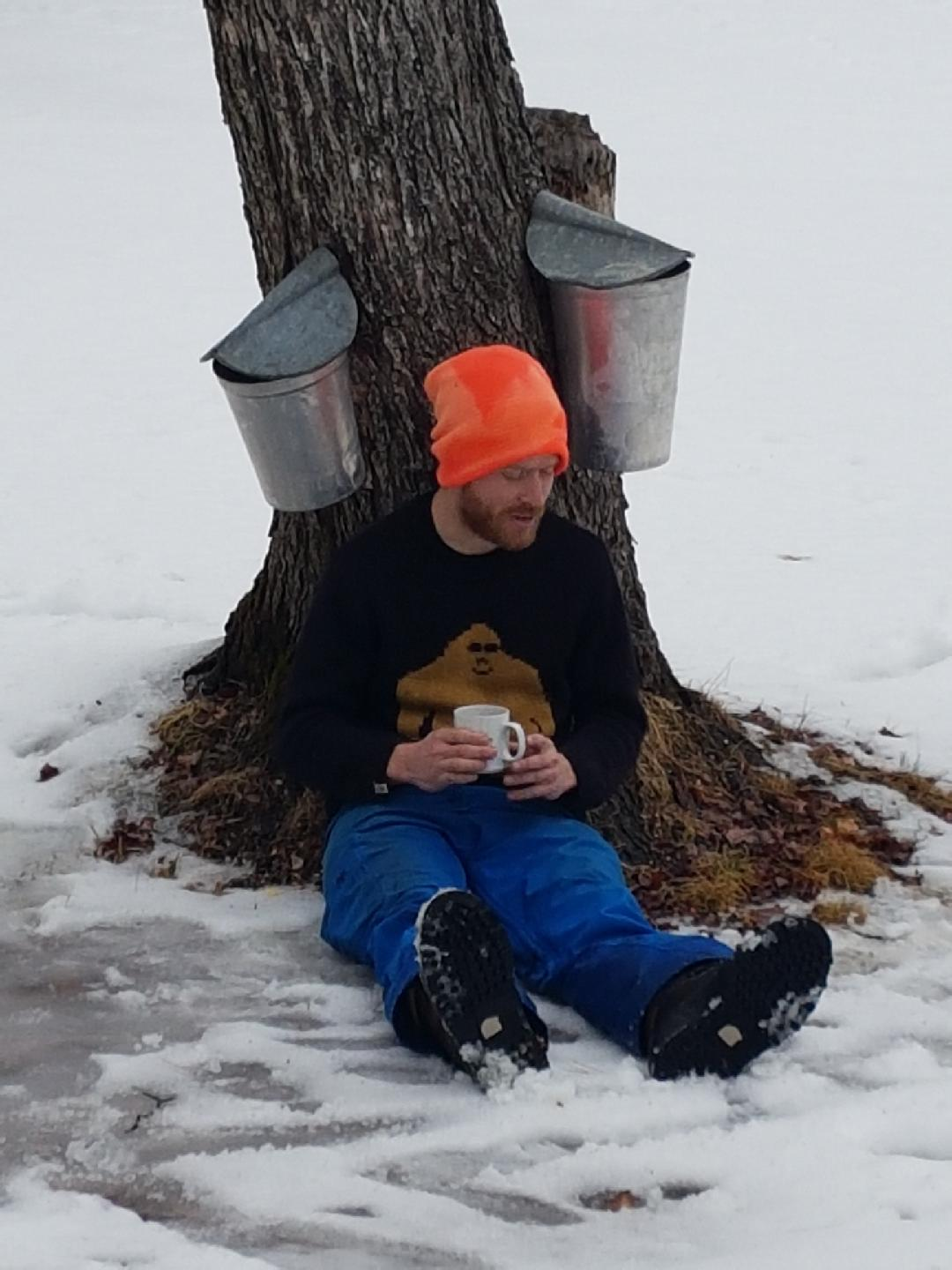 2. Collection - After you've tapped the trees and the sap is flowing, you've got to collect the sap. It either drips into buckets right on the tree (the classic), or flows downhill via tubing.