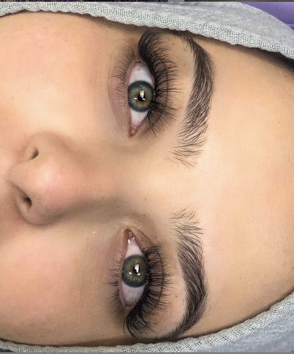 Hyrbid Lash Extensions Milwaukee