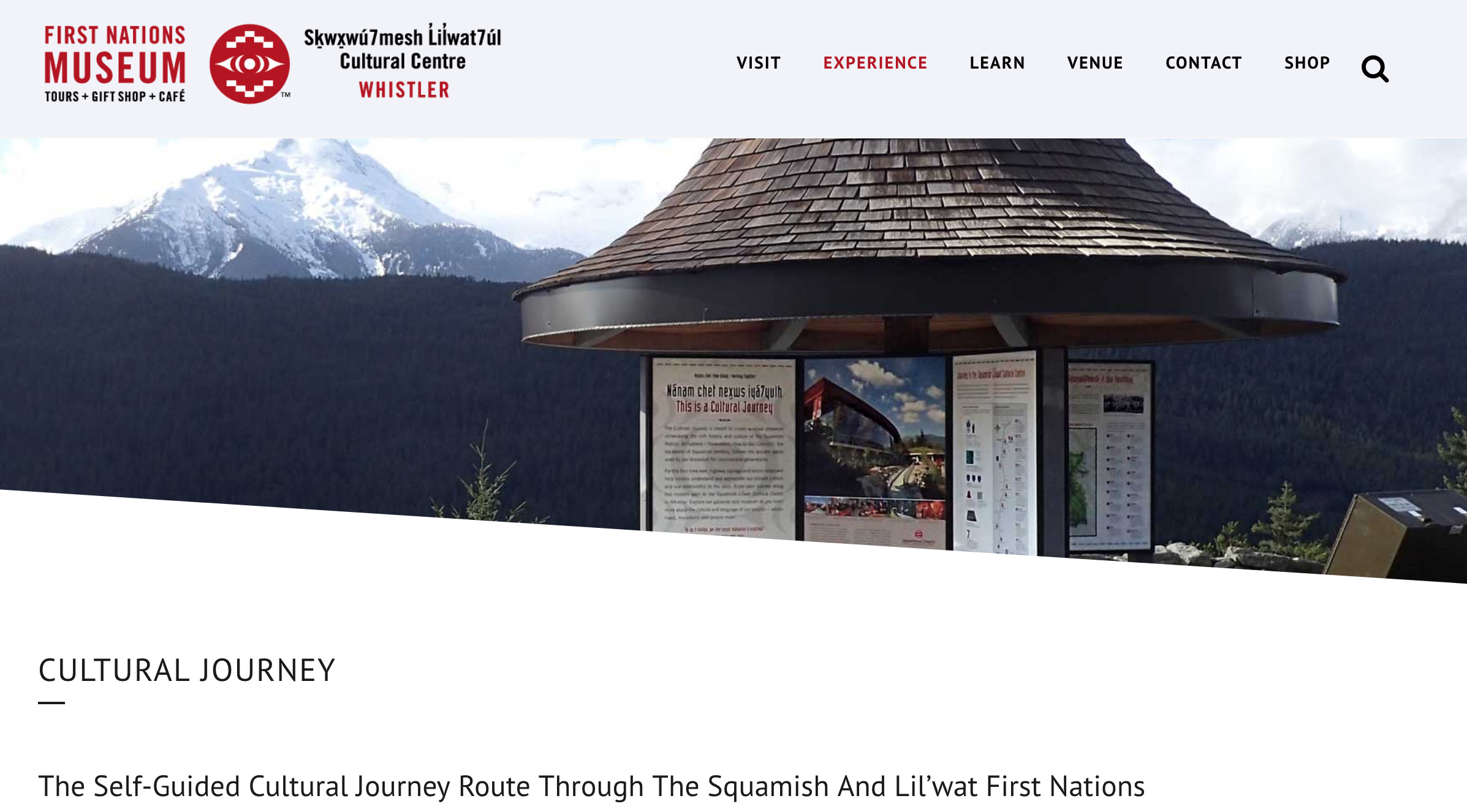 - Squamish Lil'wat Cultural Centre – Cultural Audio Journey (2012)